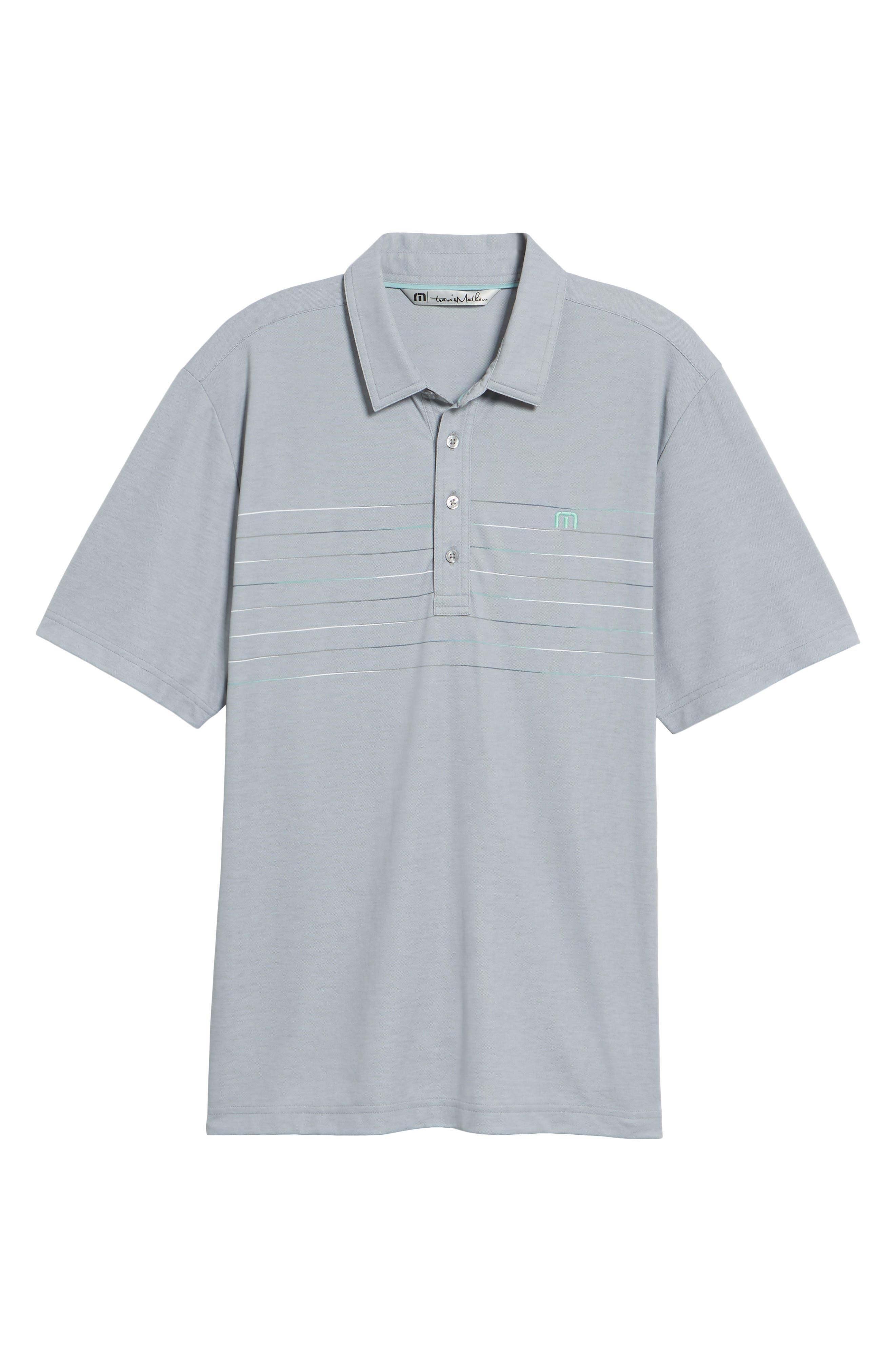 Good Good Polo Shirt,                             Alternate thumbnail 6, color,                             Heather Grey Monument