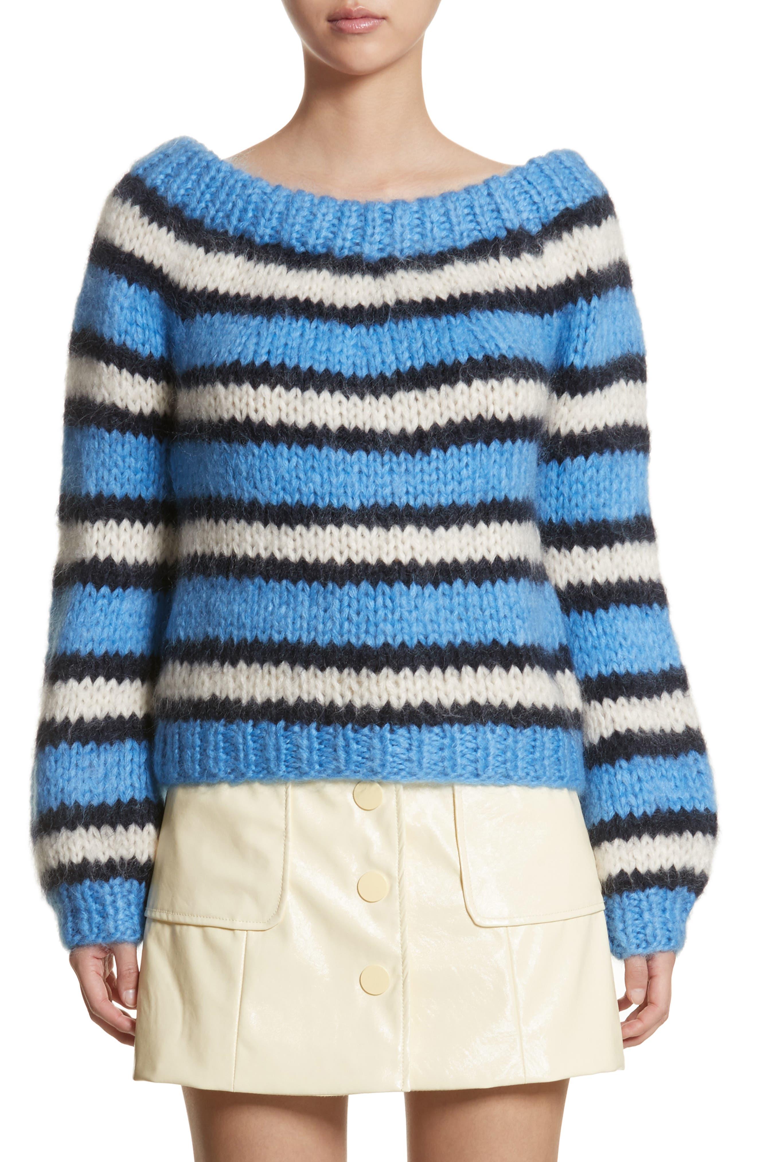 Juilliard Stripe Mohair & Wool Sweater,                             Main thumbnail 1, color,                             Block Colour