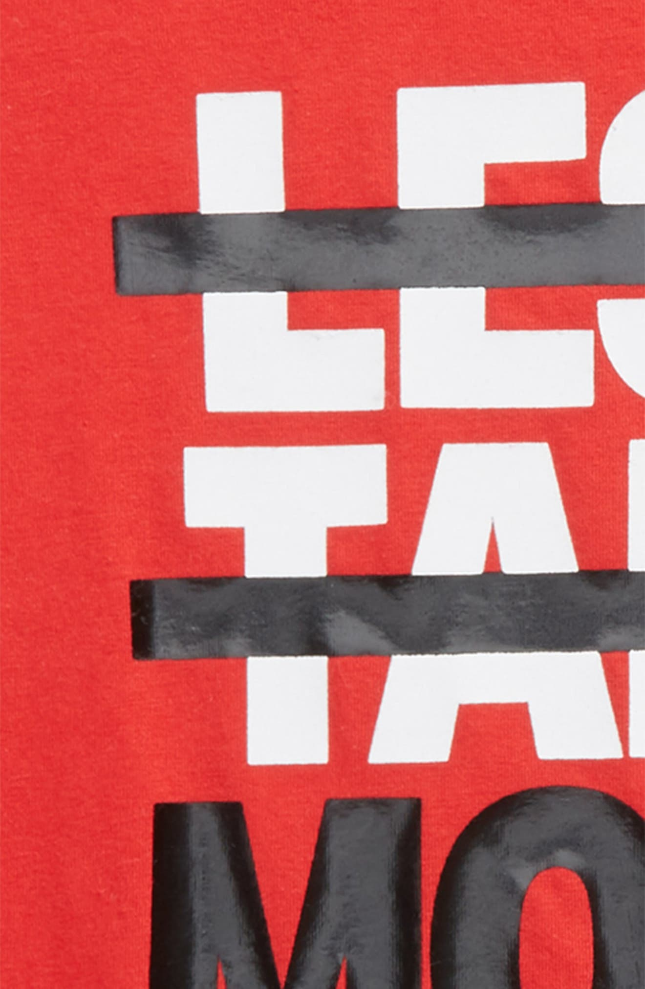 Less Talk More W's HeatGear<sup>®</sup> T-Shirt,                             Alternate thumbnail 2, color,                             Red/ White