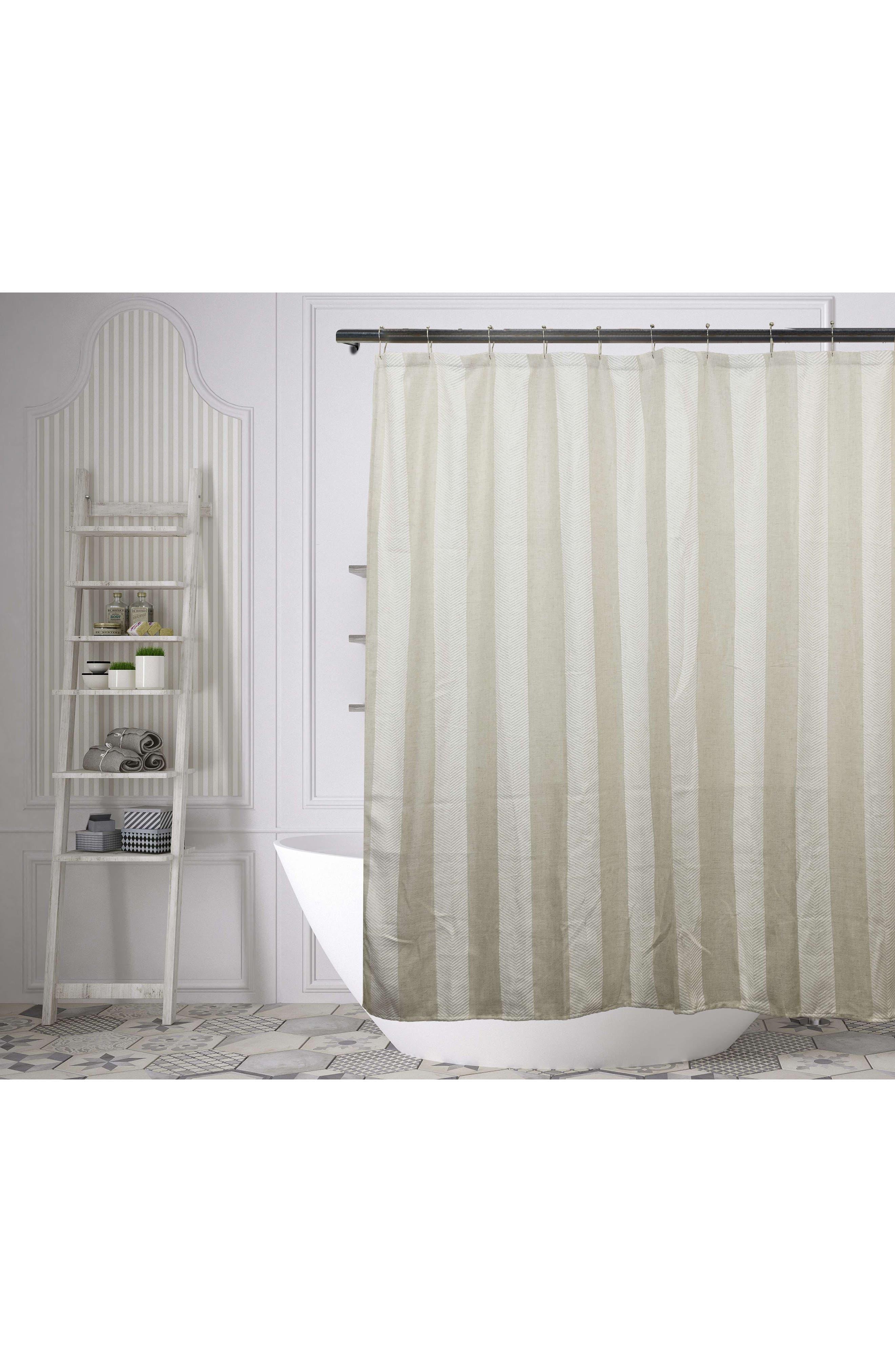 Newbury Shower Curtain,                         Main,                         color, Linen