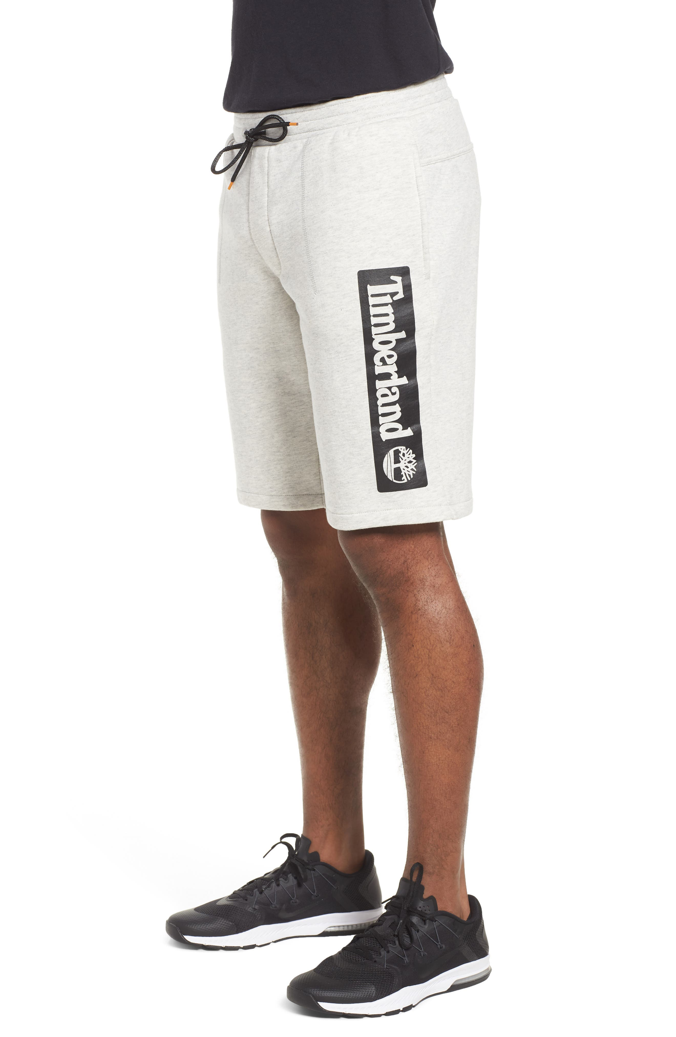 Logo Jogger Shorts,                             Alternate thumbnail 3, color,                             Micro Chip Heather