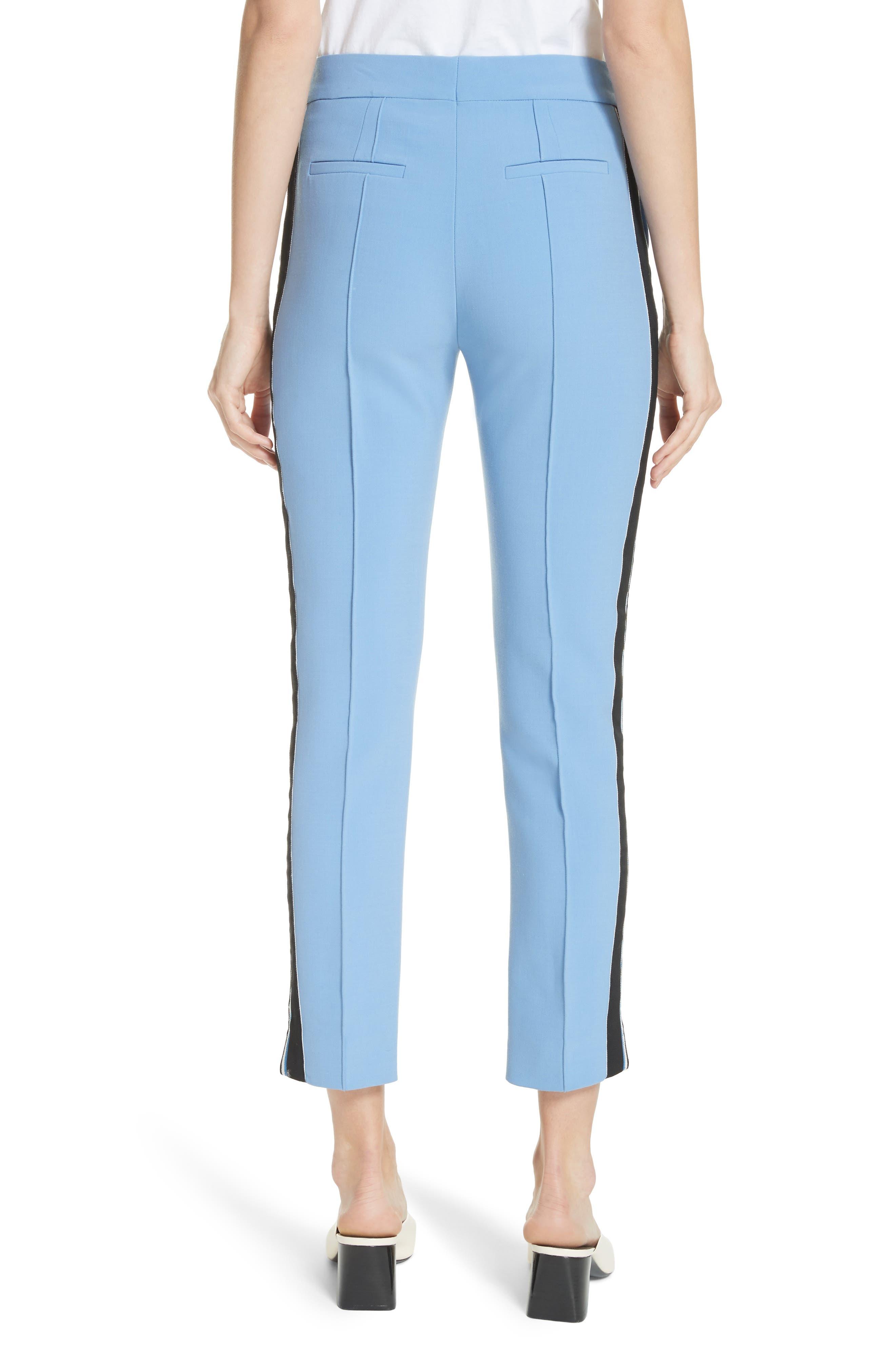 Stripe Split Hem Pants,                             Alternate thumbnail 2, color,                             Lagoon Blue