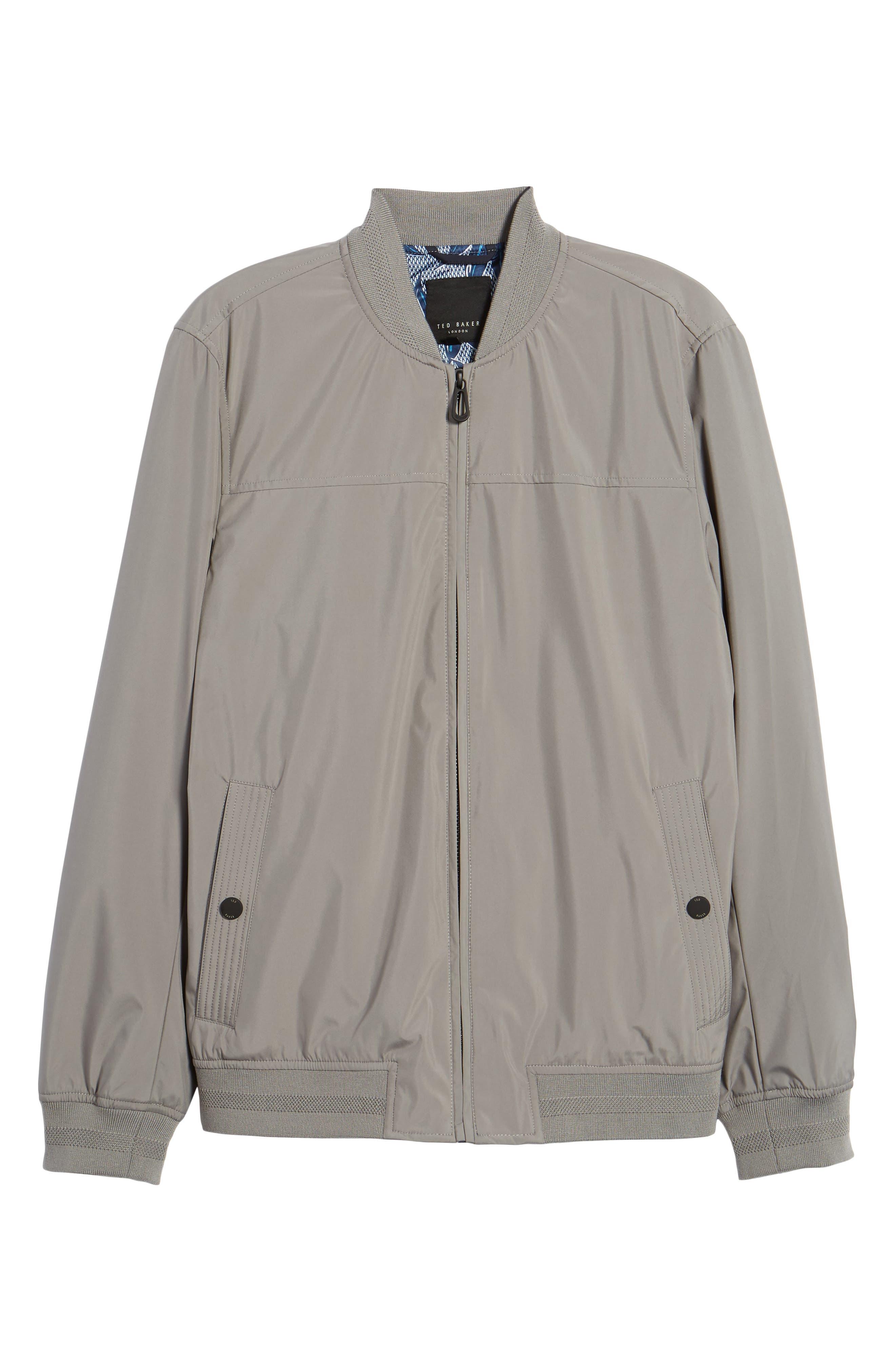 Ohtatt Bomber Jacket,                             Alternate thumbnail 6, color,                             Grey
