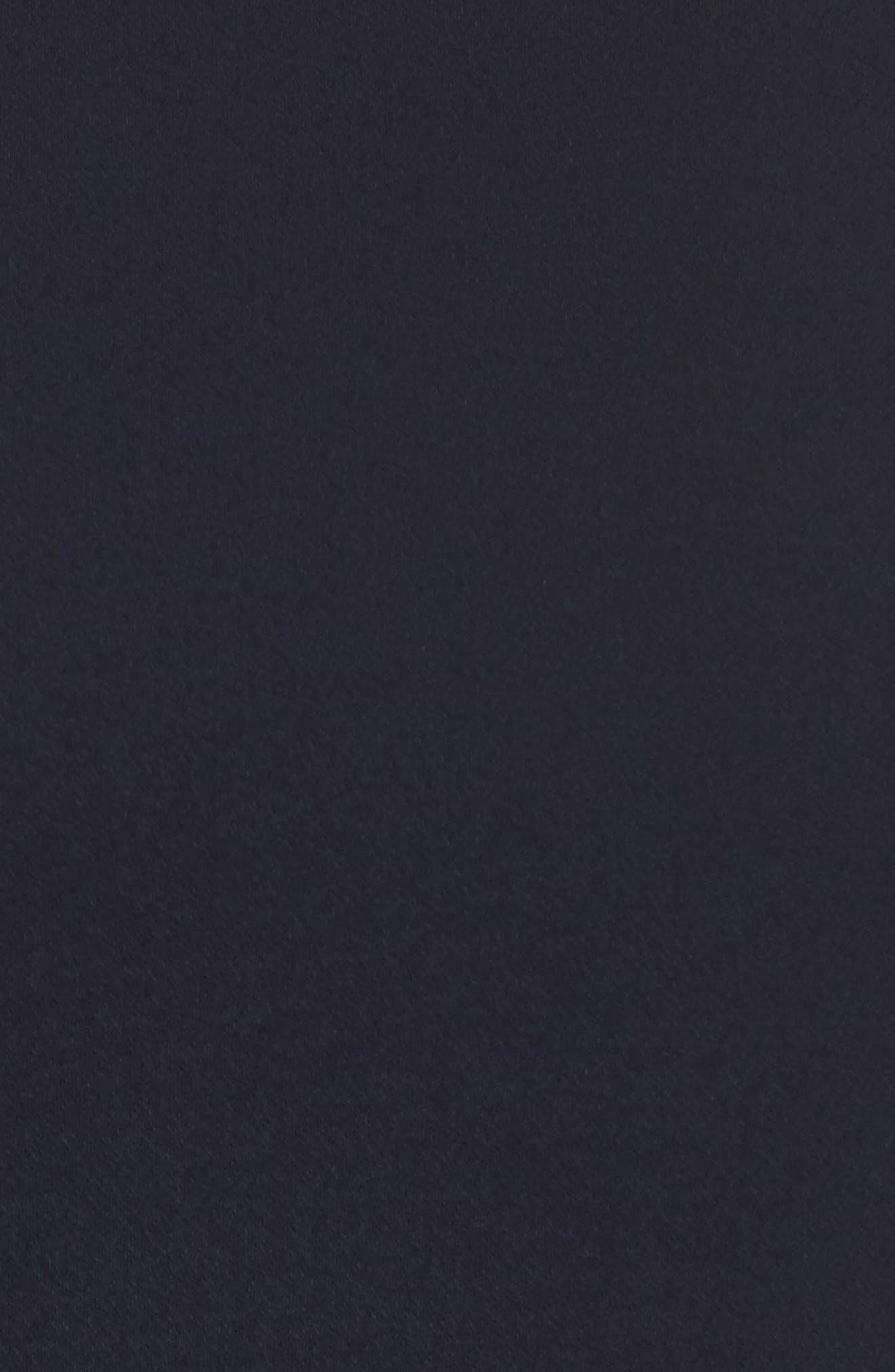 Bow Sleeve Chiffon Shift Dress,                             Alternate thumbnail 5, color,                             Navy