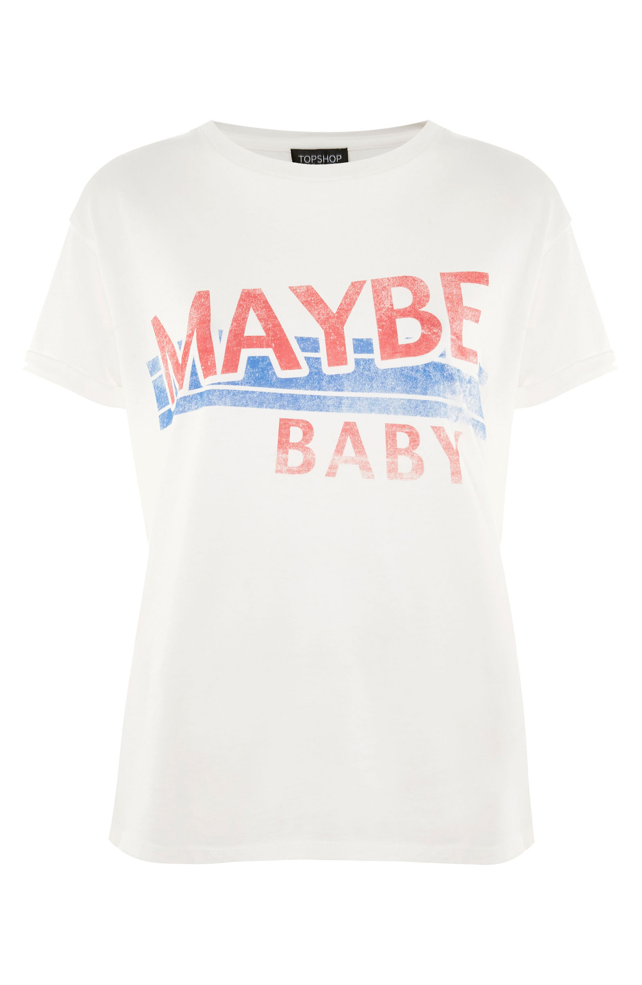 Maybe Baby Cotton Tee,                             Alternate thumbnail 4, color,                             White Multi