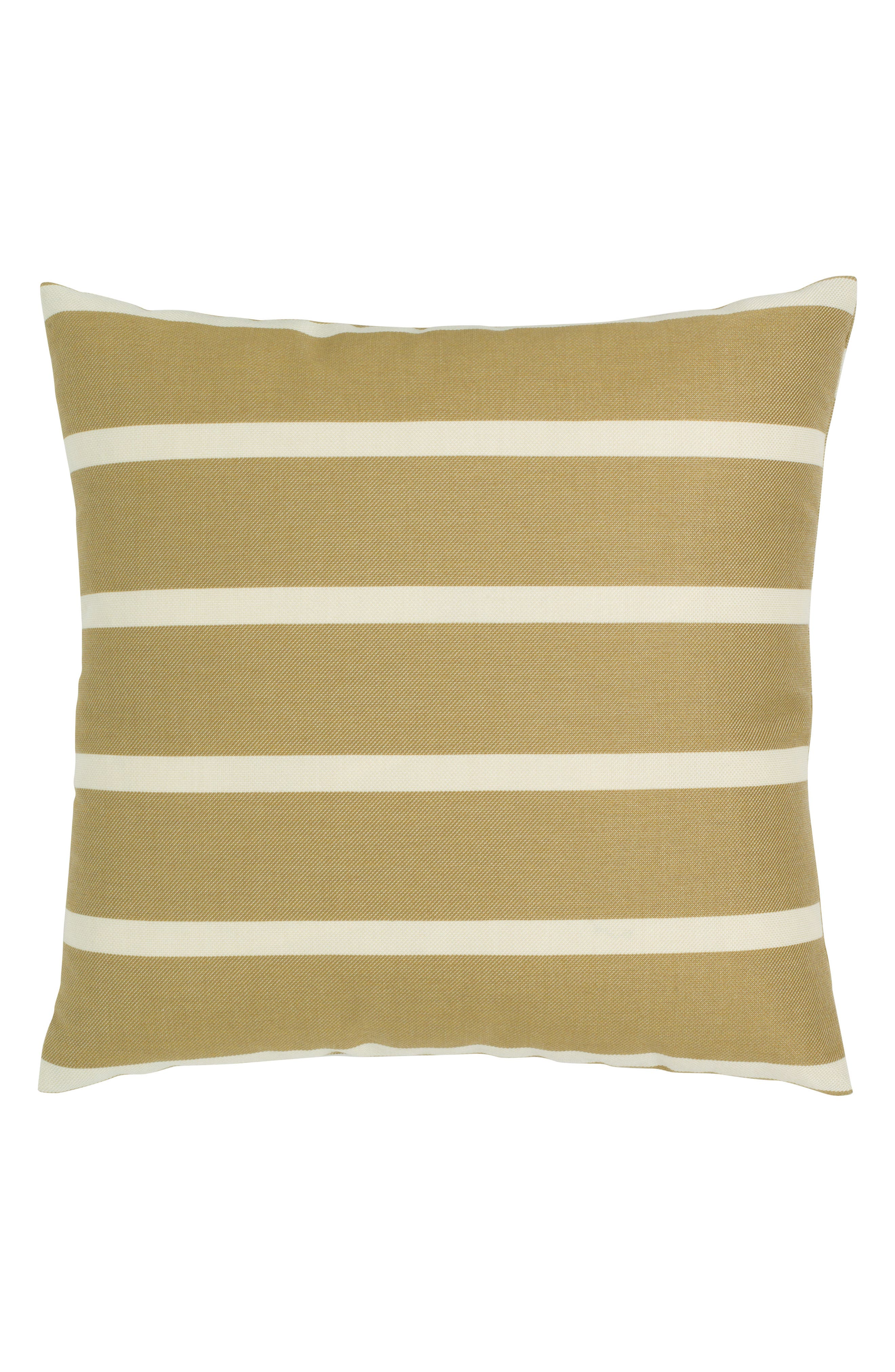 Shine Stripe Indoor/Outdoor Accent Pillow,                             Alternate thumbnail 3, color,                             Brown