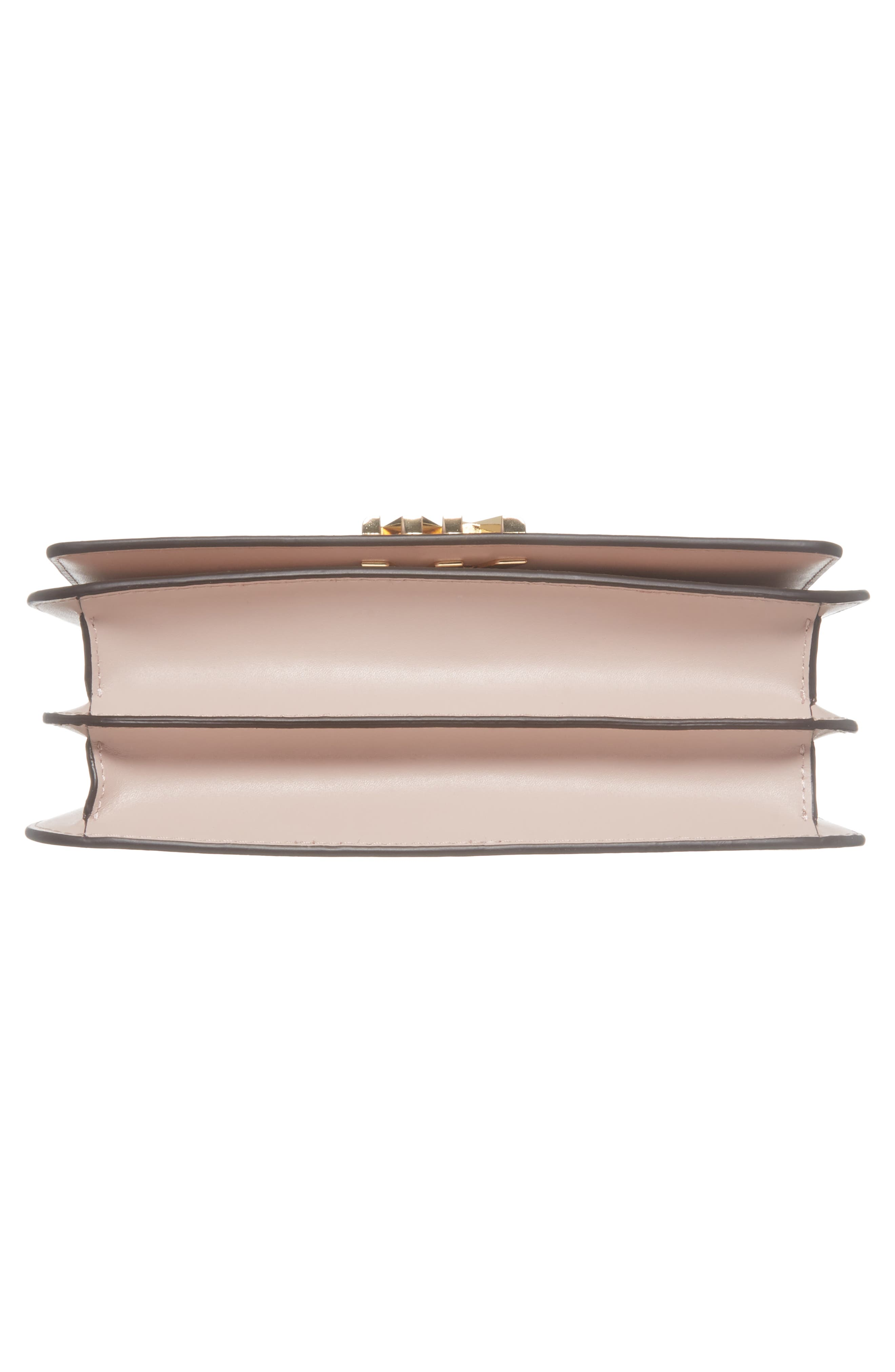 Large Mott Chain Swag Leather Shoulder Bag,                             Alternate thumbnail 6, color,                             Soft Pink