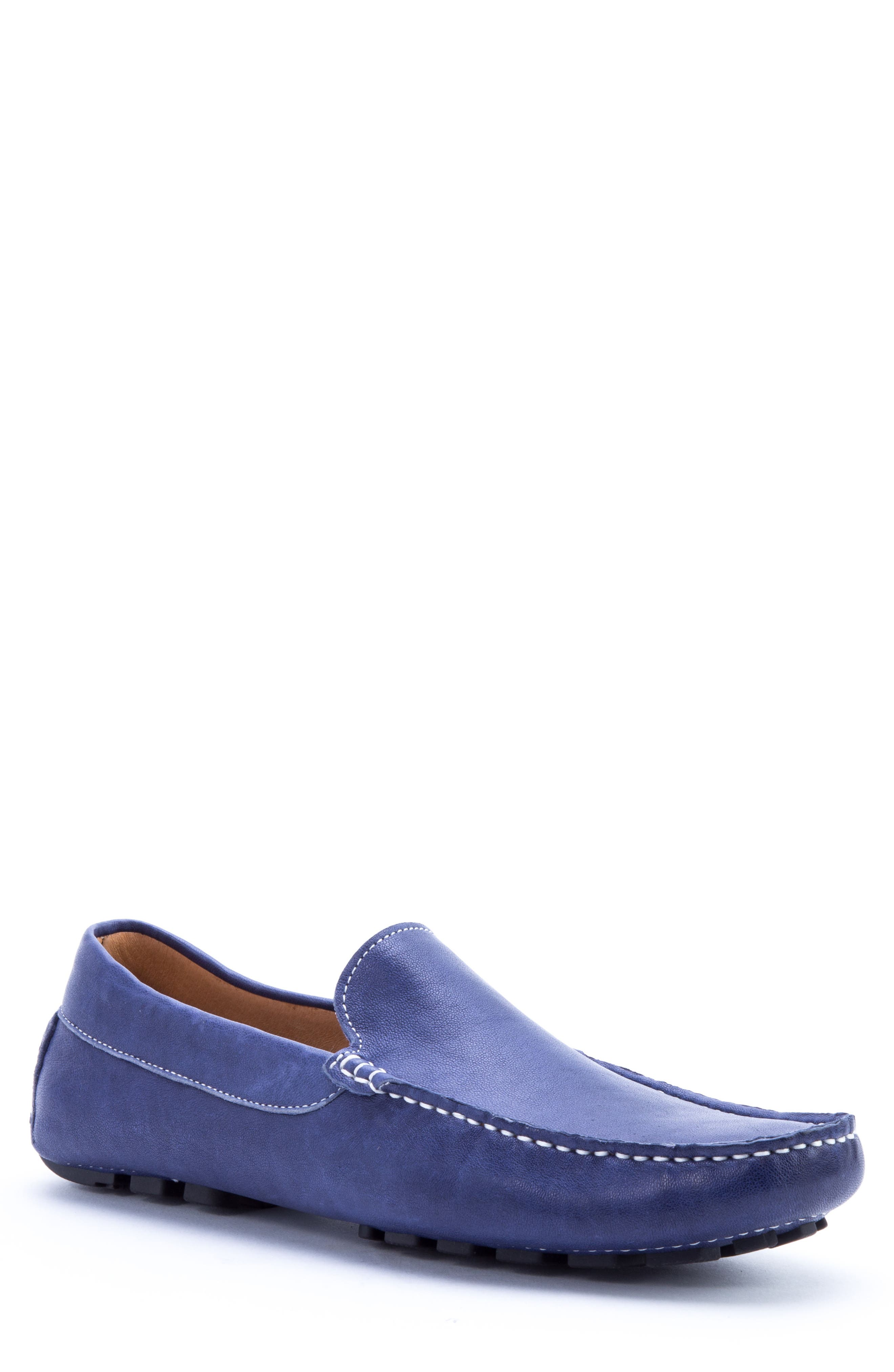 Picasso 3 Moc Toe Driving Loafer,                         Main,                         color, Blue Leather