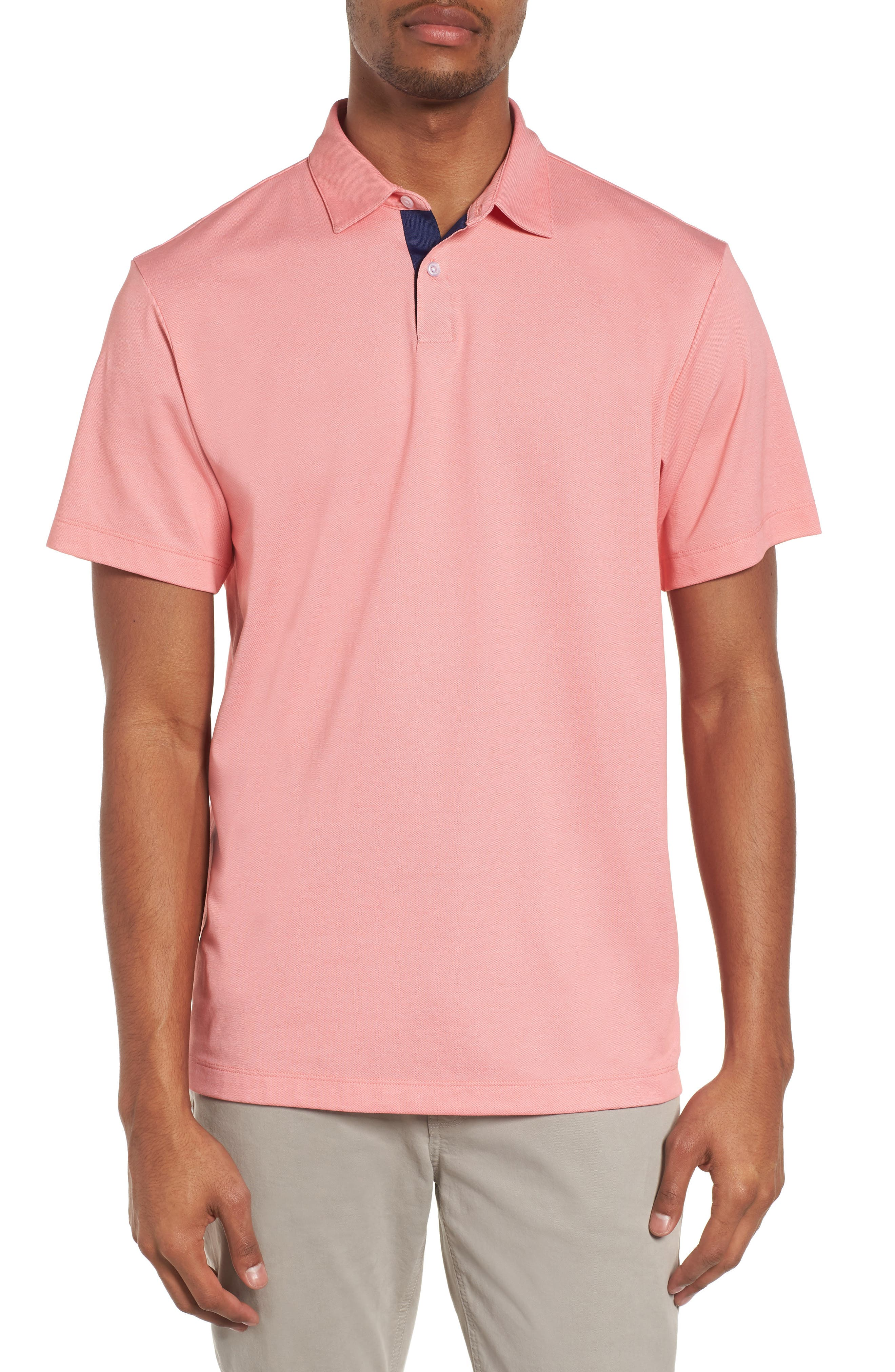 Andrew Regular Fit Piqué Polo,                             Main thumbnail 1, color,                             Coral