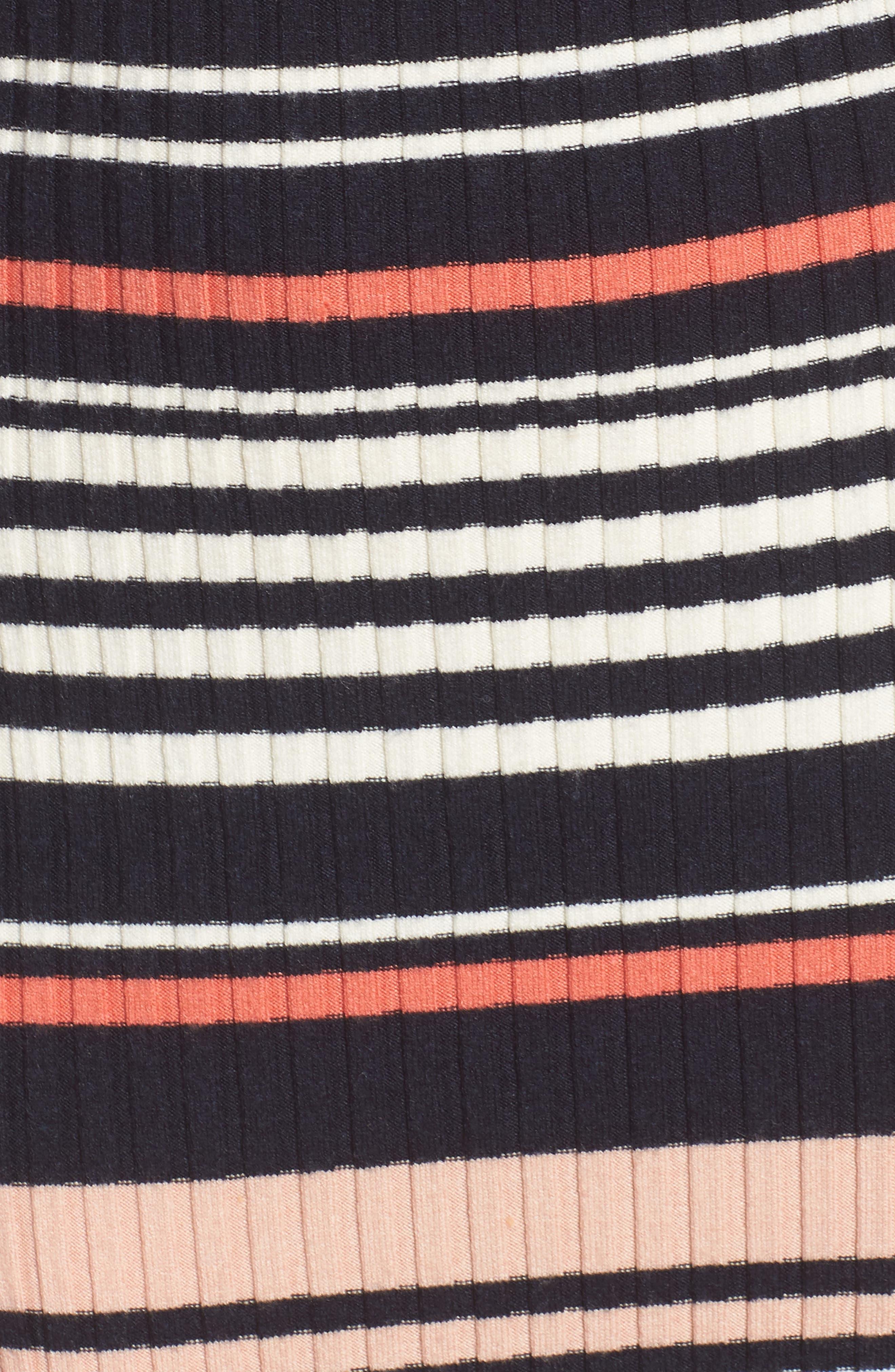 Dani Sweater Knit Midi Dress,                             Alternate thumbnail 5, color,                             Ink