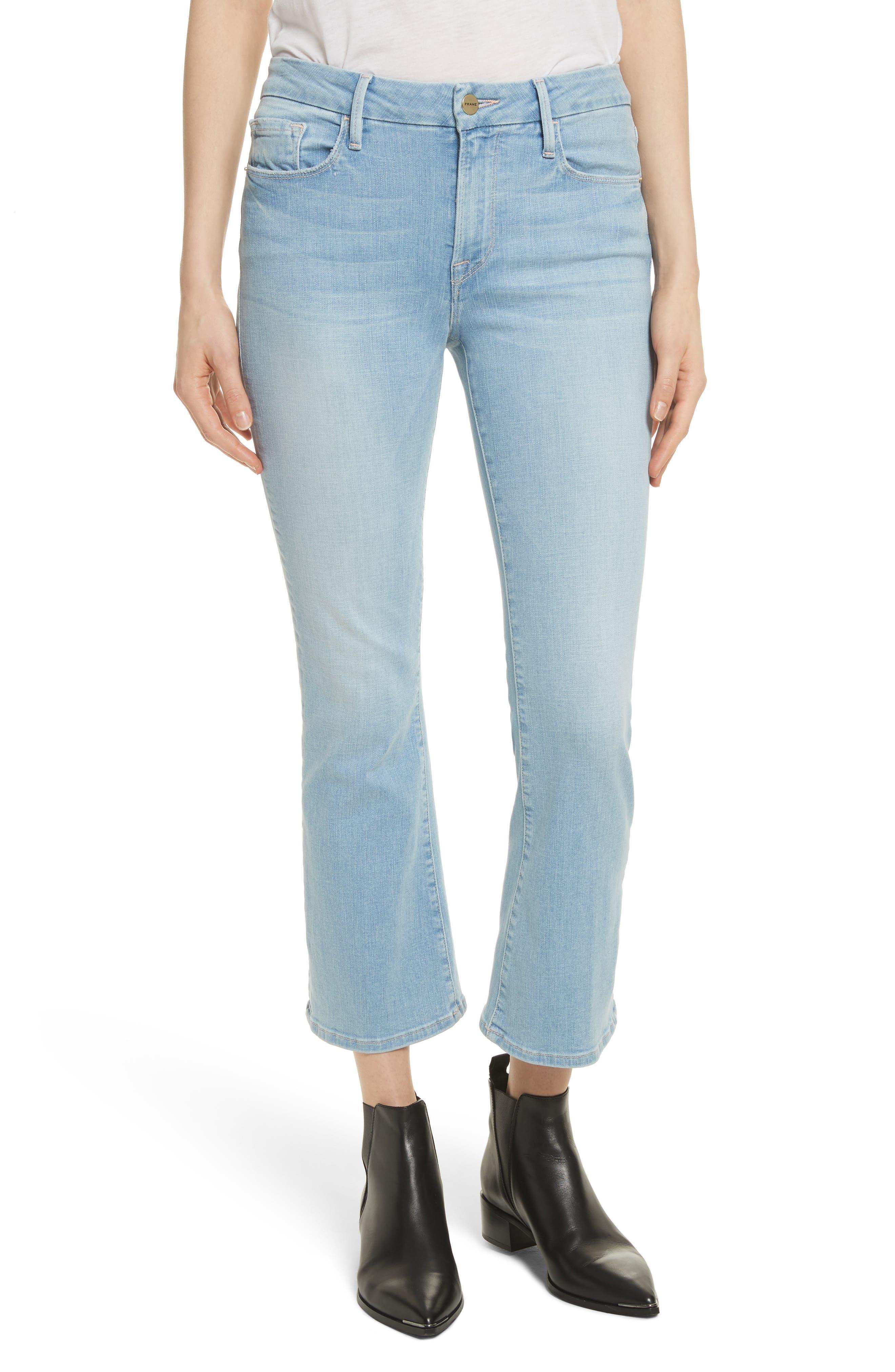 Le Crop Mini Boot Jeans,                             Main thumbnail 1, color,                             Kitwood