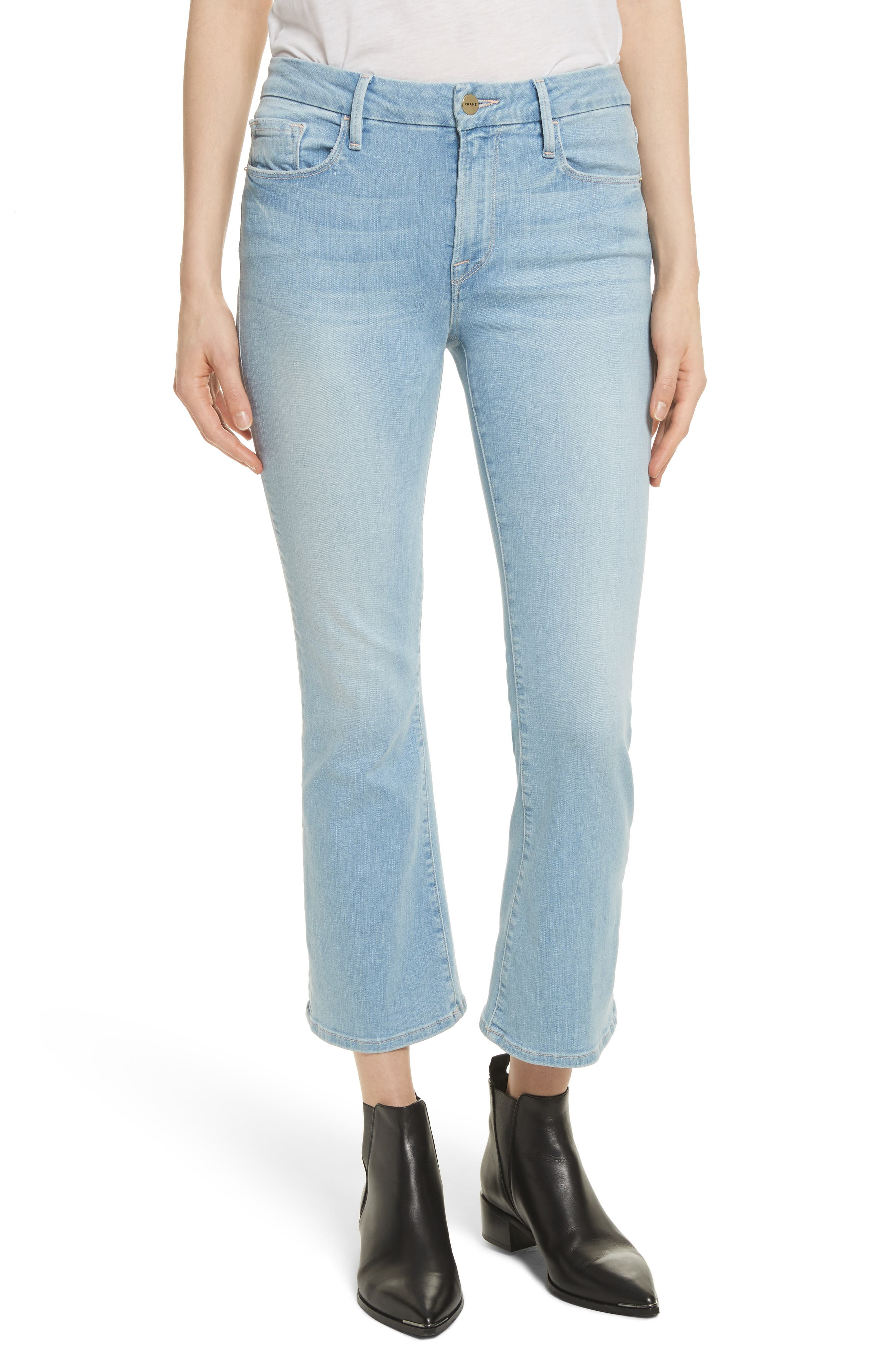 Le Crop Mini Boot Jeans,                         Main,                         color, Kitwood