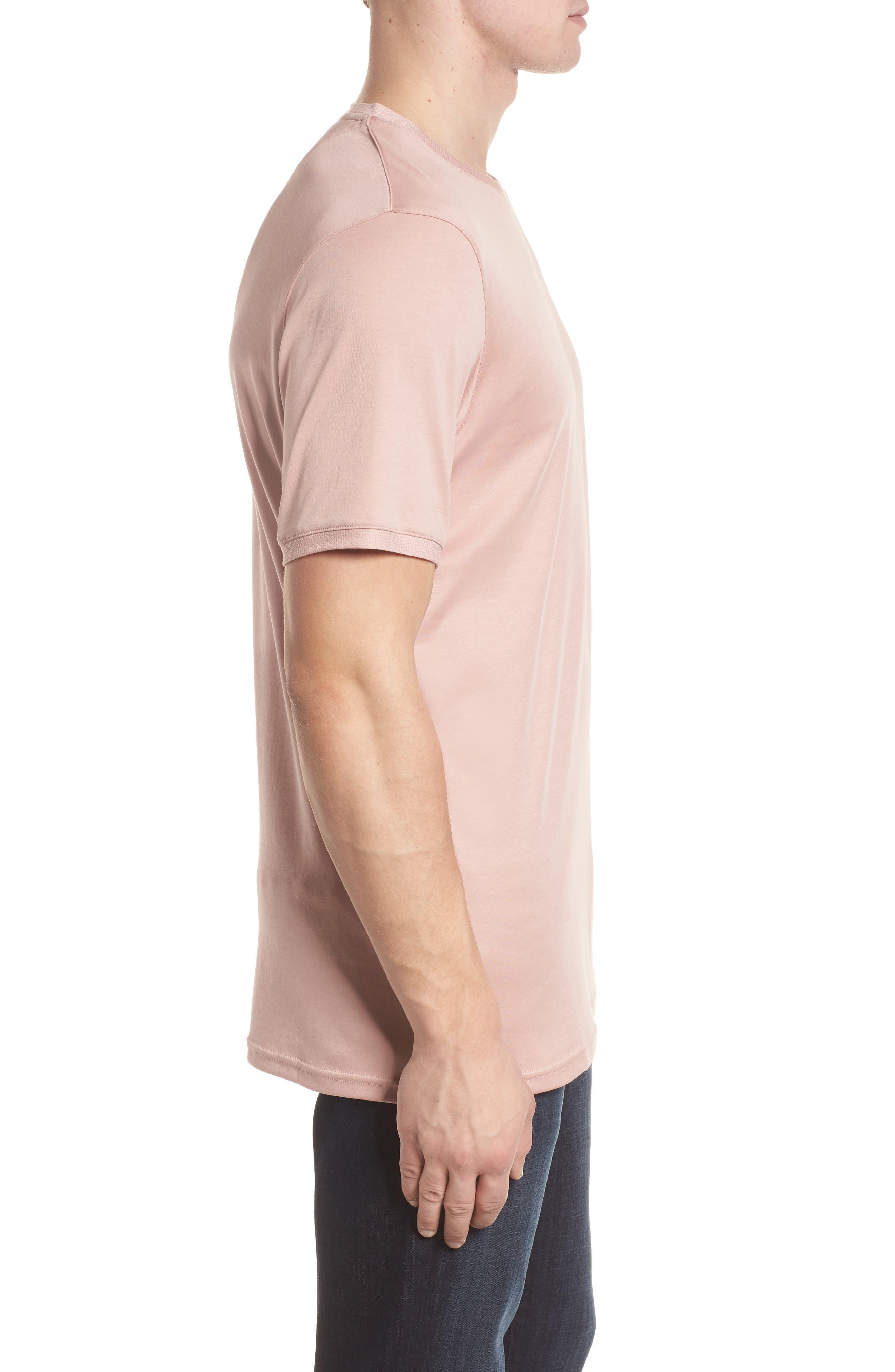 Piktt Crewneck T-Shirt,                             Alternate thumbnail 3, color,                             Dusky Pink