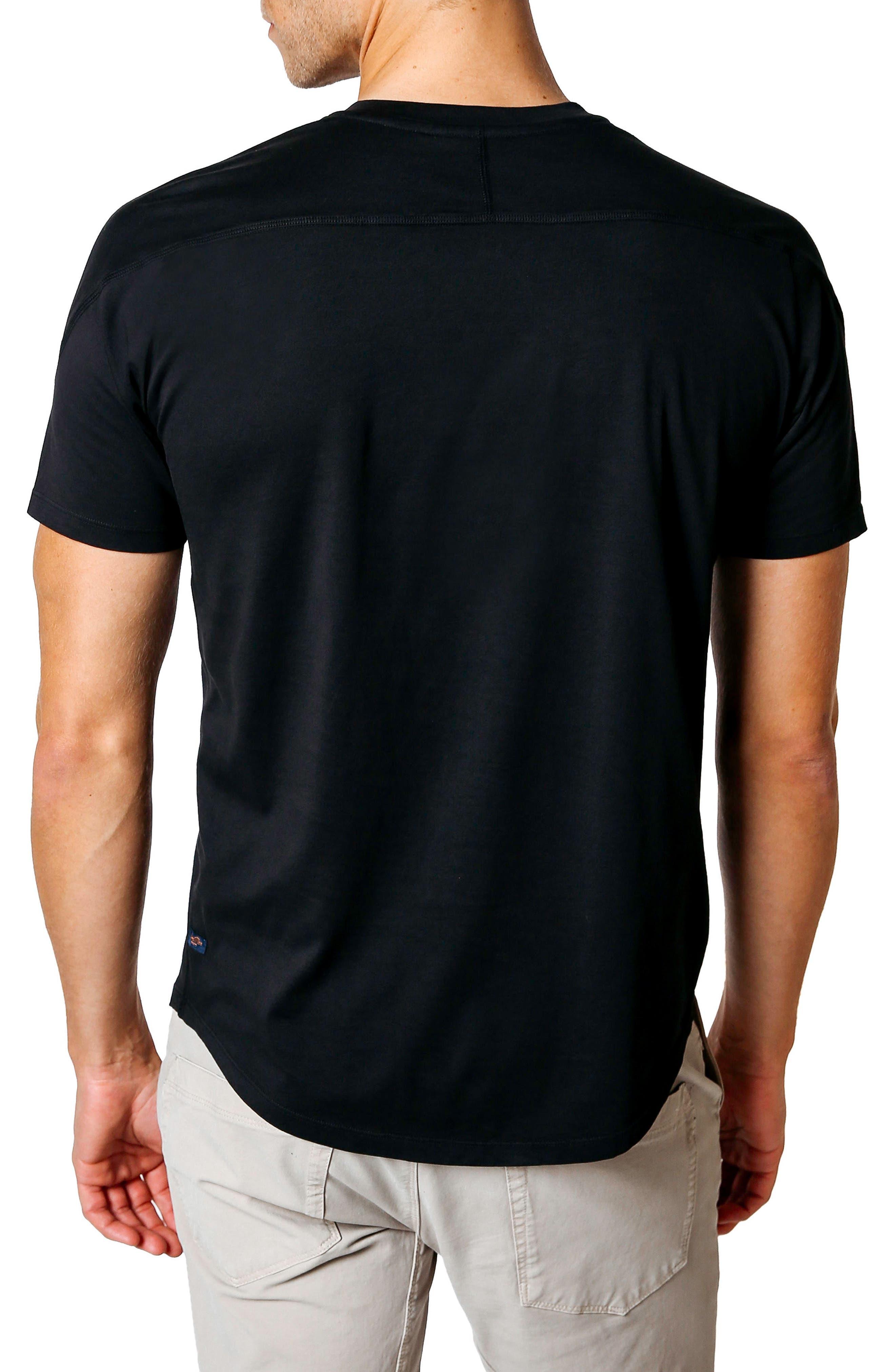 Slim Fit V-Neck T-Shirt,                             Alternate thumbnail 2, color,                             Black