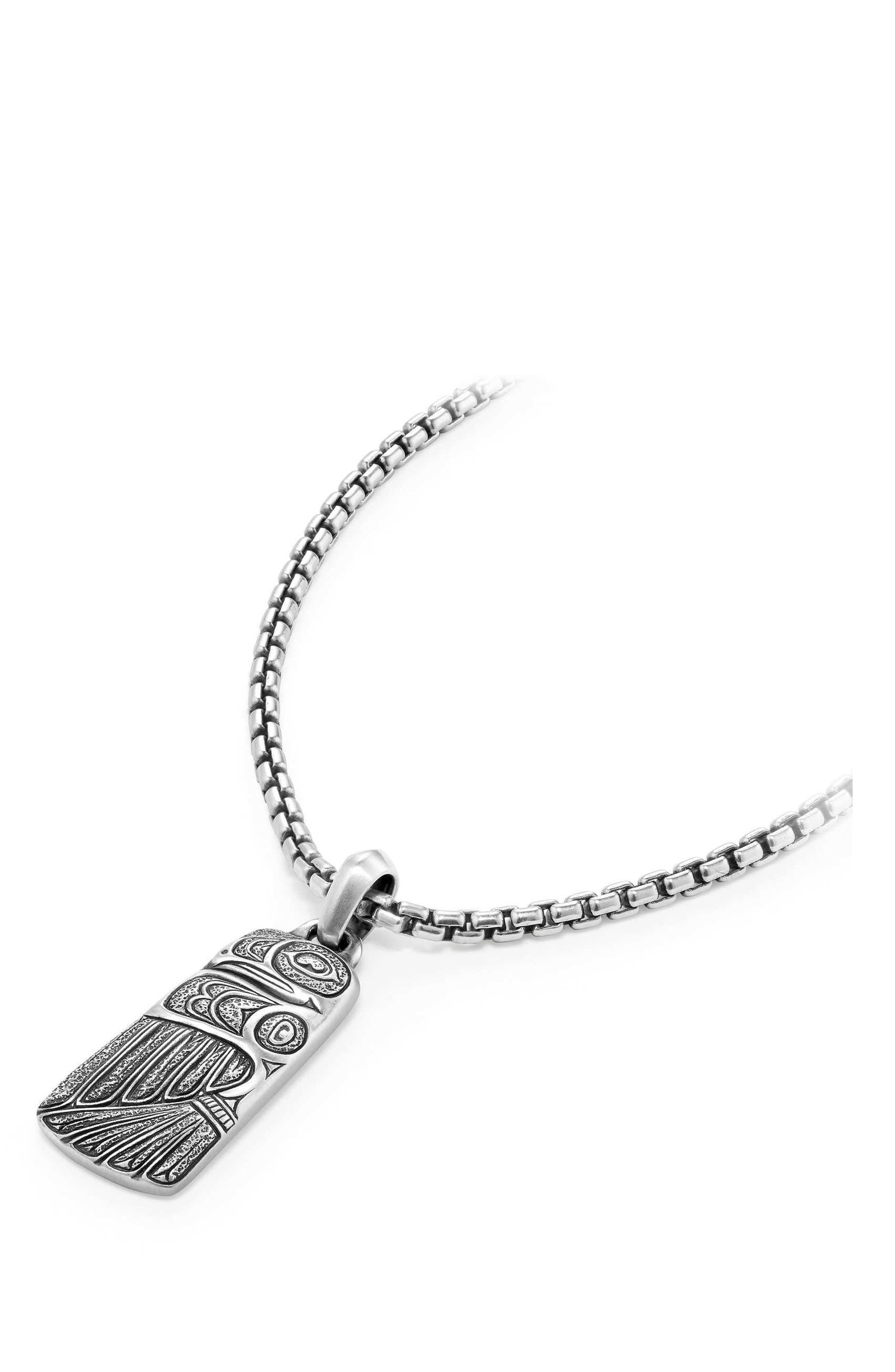 Northwest Small Amulet,                             Main thumbnail 1, color,                             Silver