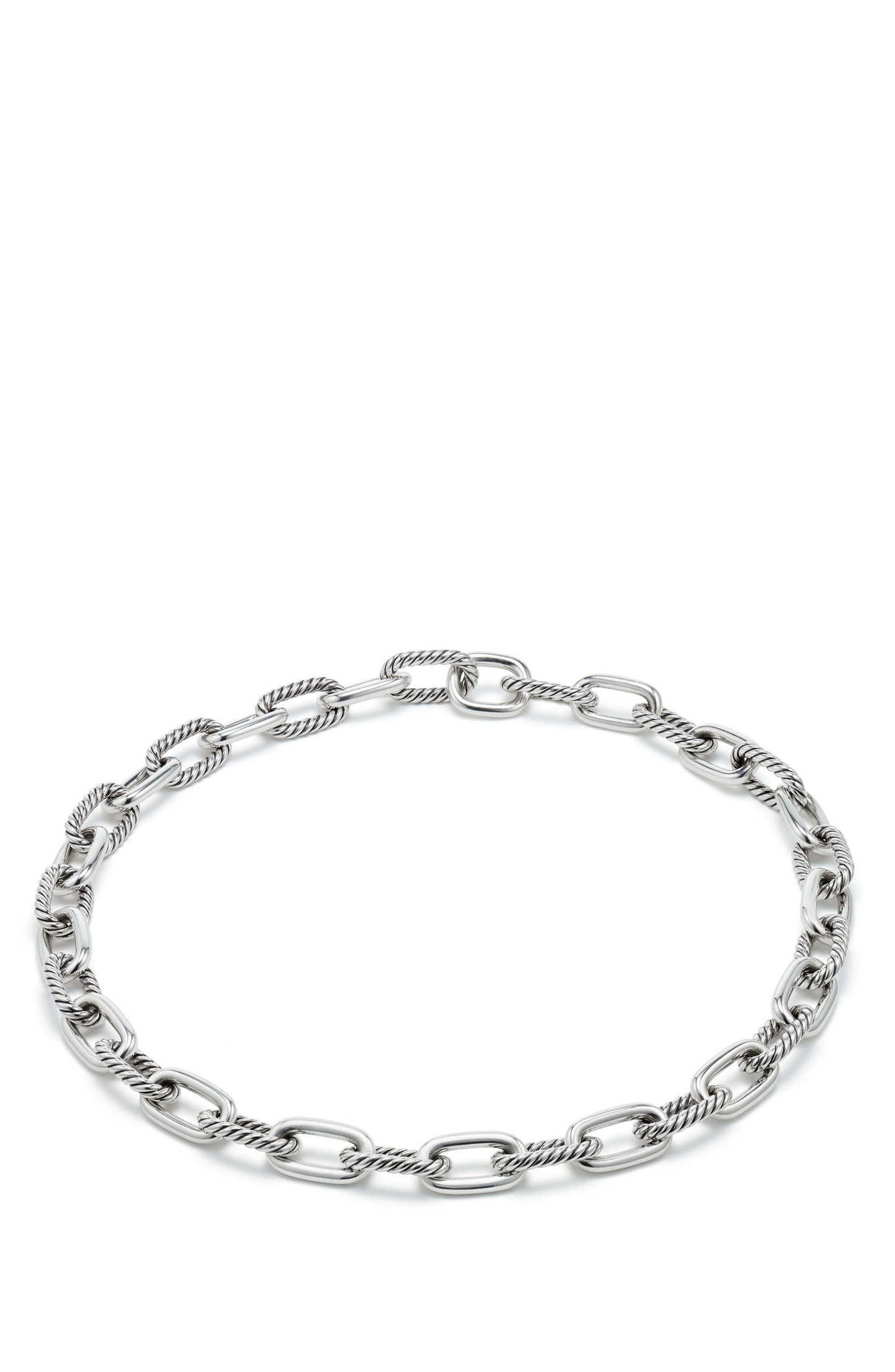 Madison Chain Medium Necklace,                         Main,                         color, Silver