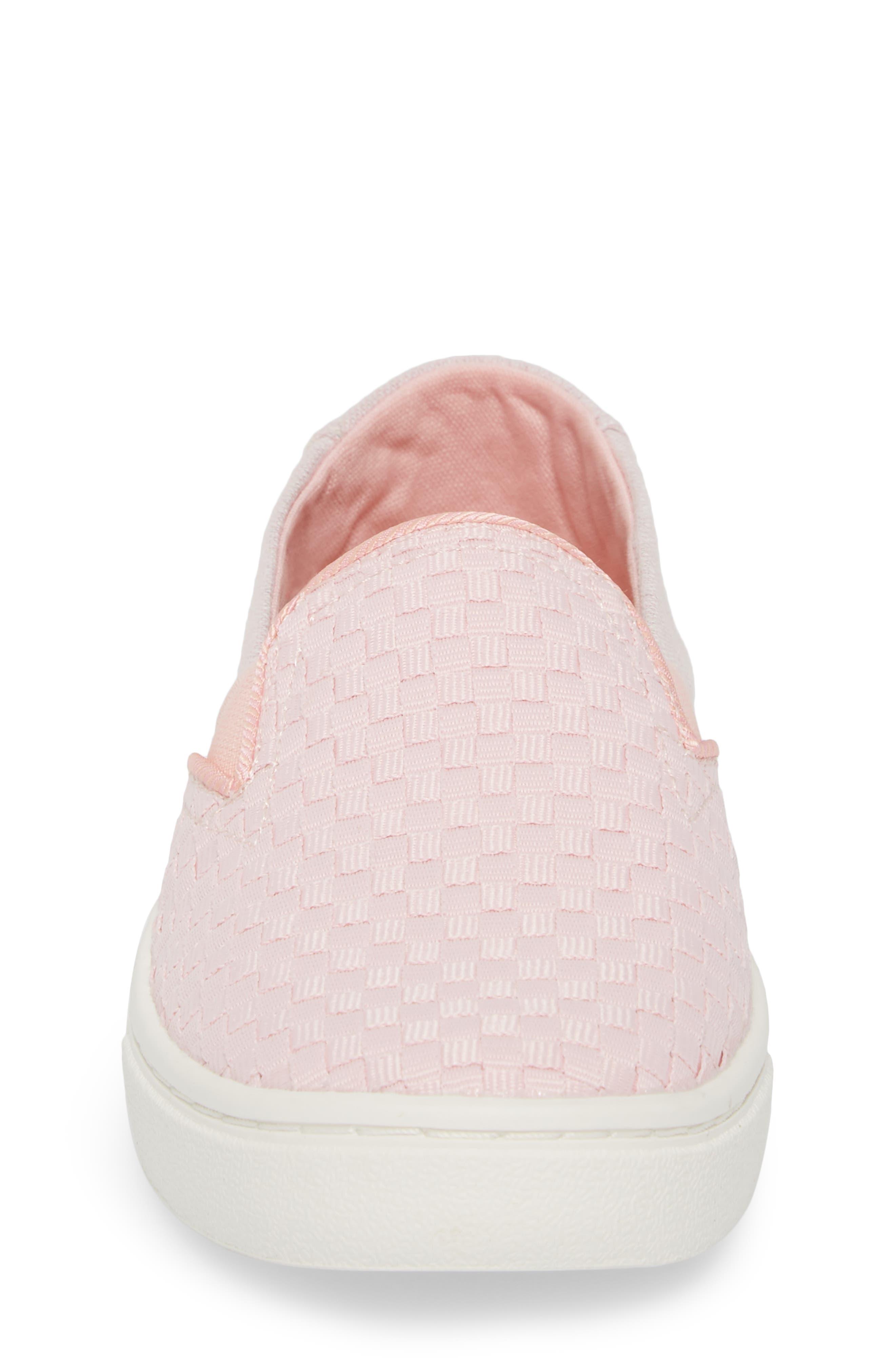 Luca Slip-On Sneaker,                             Alternate thumbnail 4, color,                             Blossom Basketweave