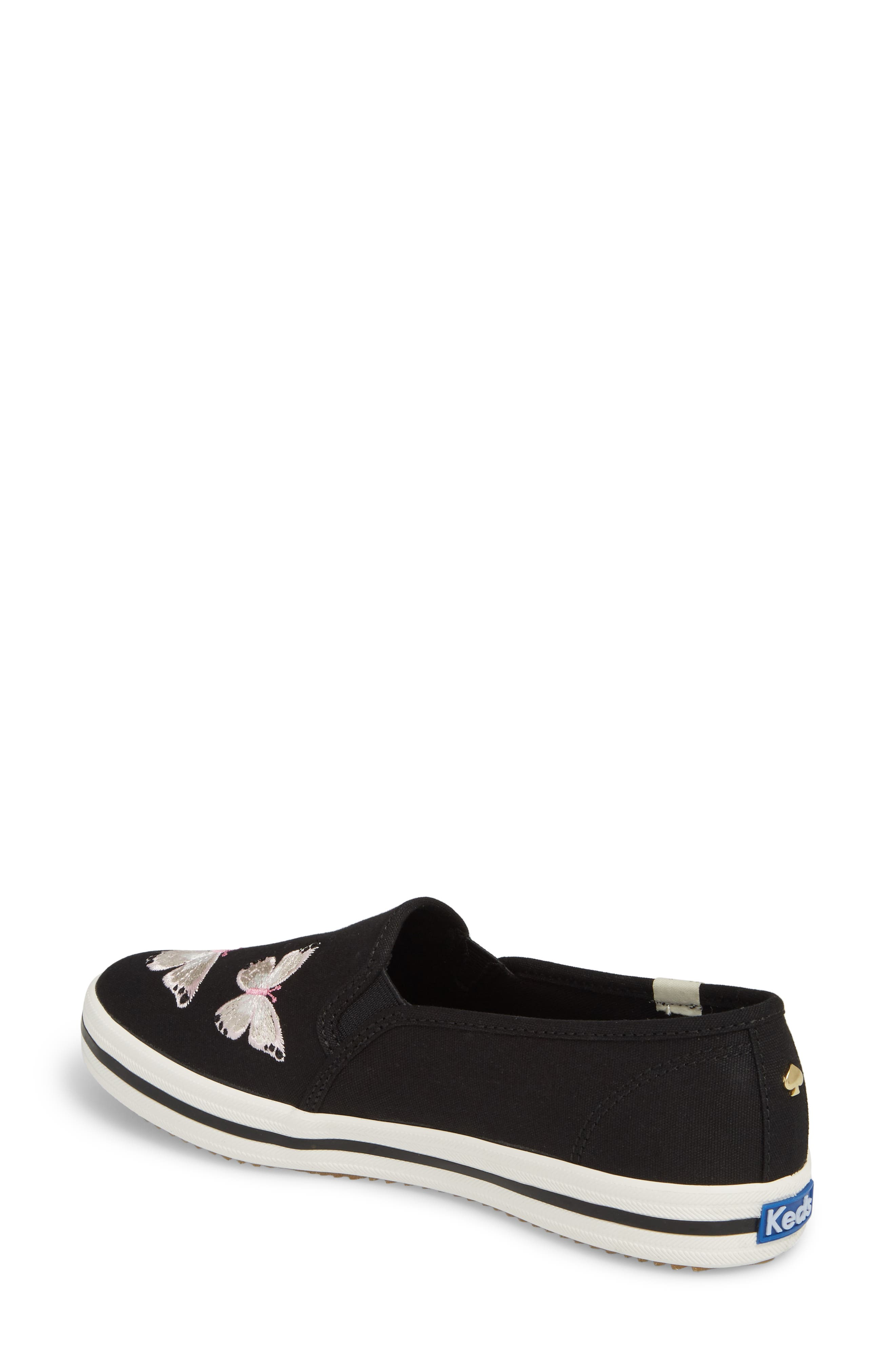 butterfly double decker slip-on sneaker,                             Alternate thumbnail 2, color,                             Black
