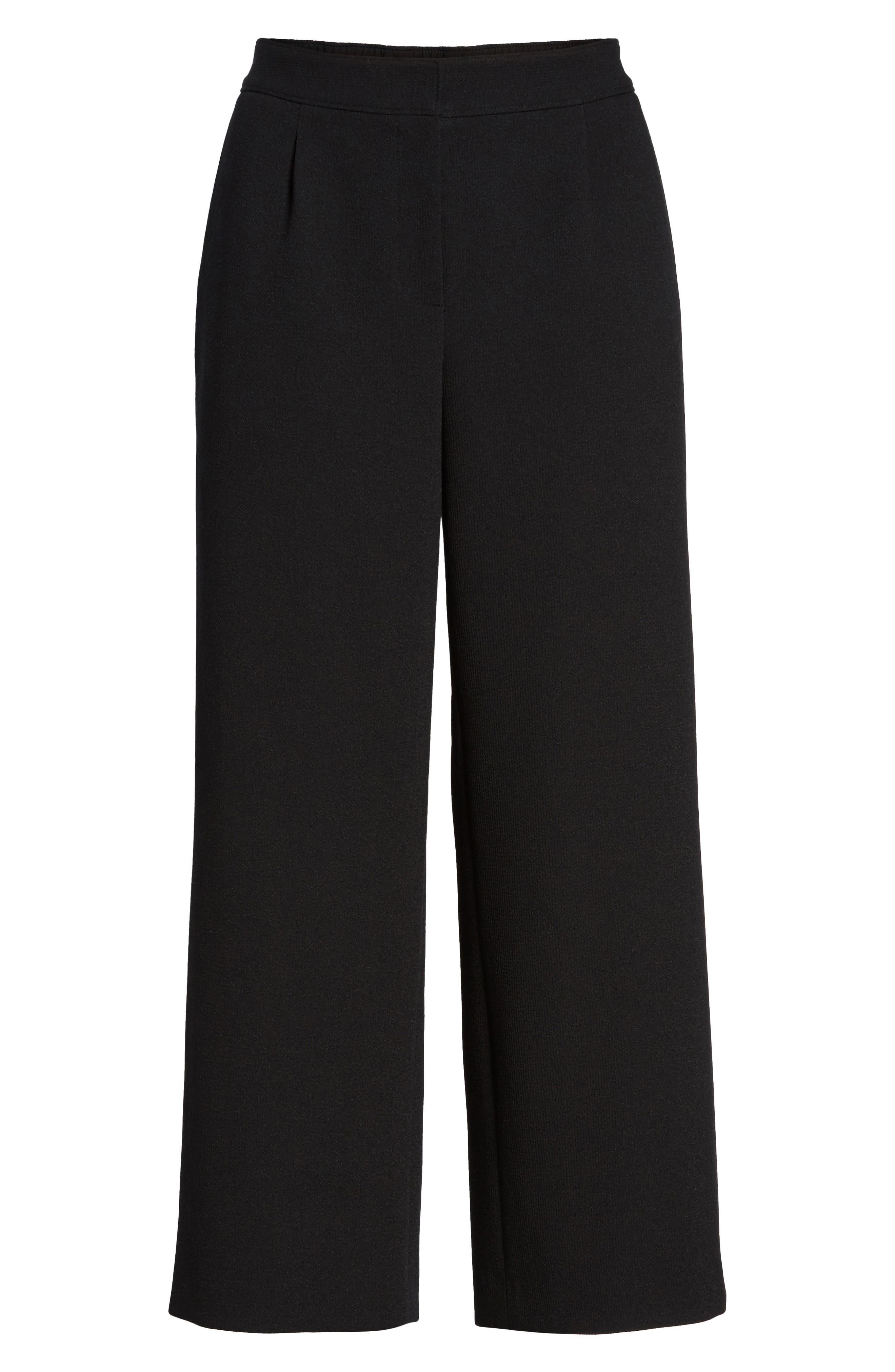 Crop Pants,                             Alternate thumbnail 6, color,                             Black