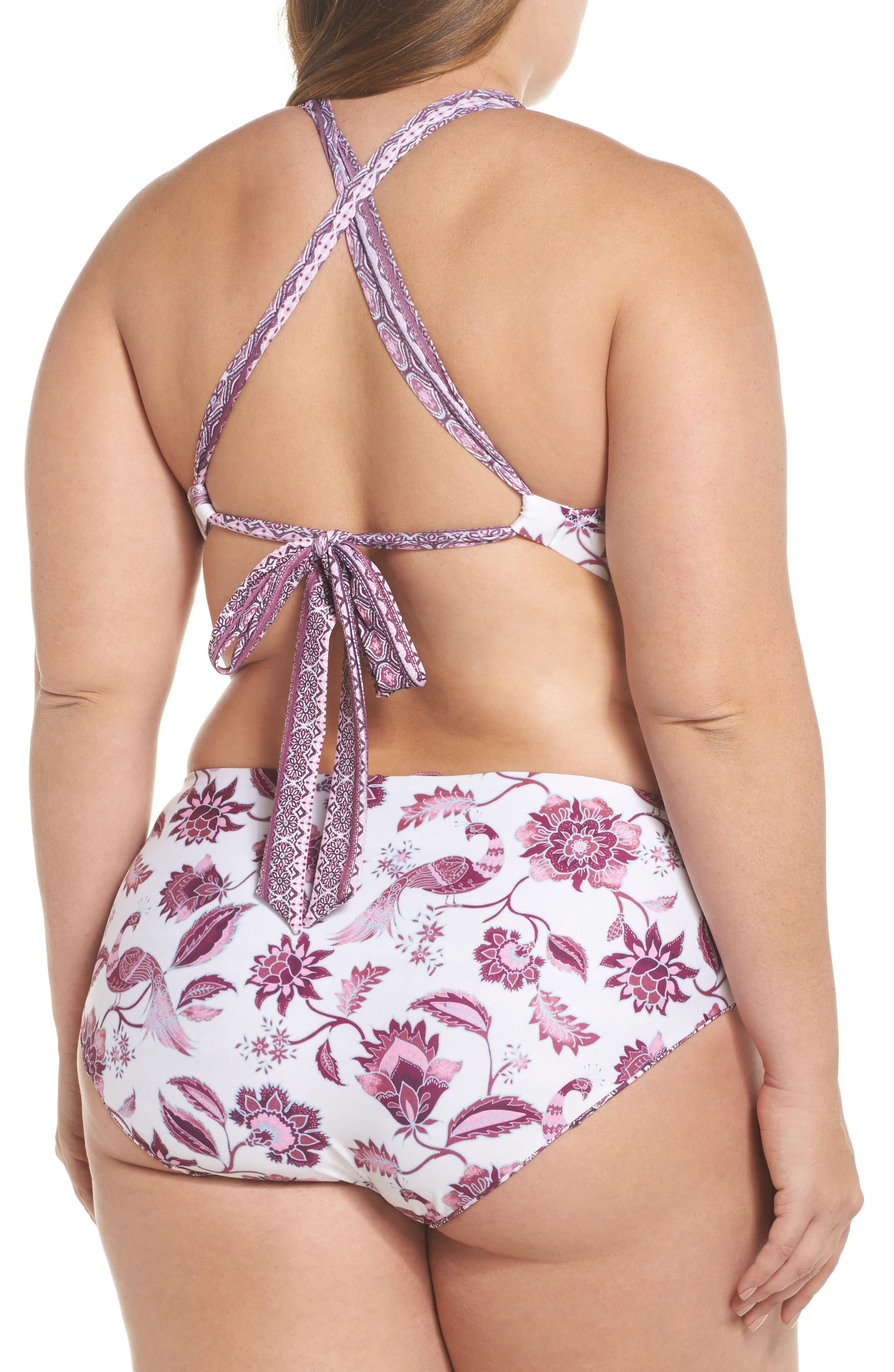 Tahiti Halter Bikini Top,                             Alternate thumbnail 6, color,                             Purple Multi