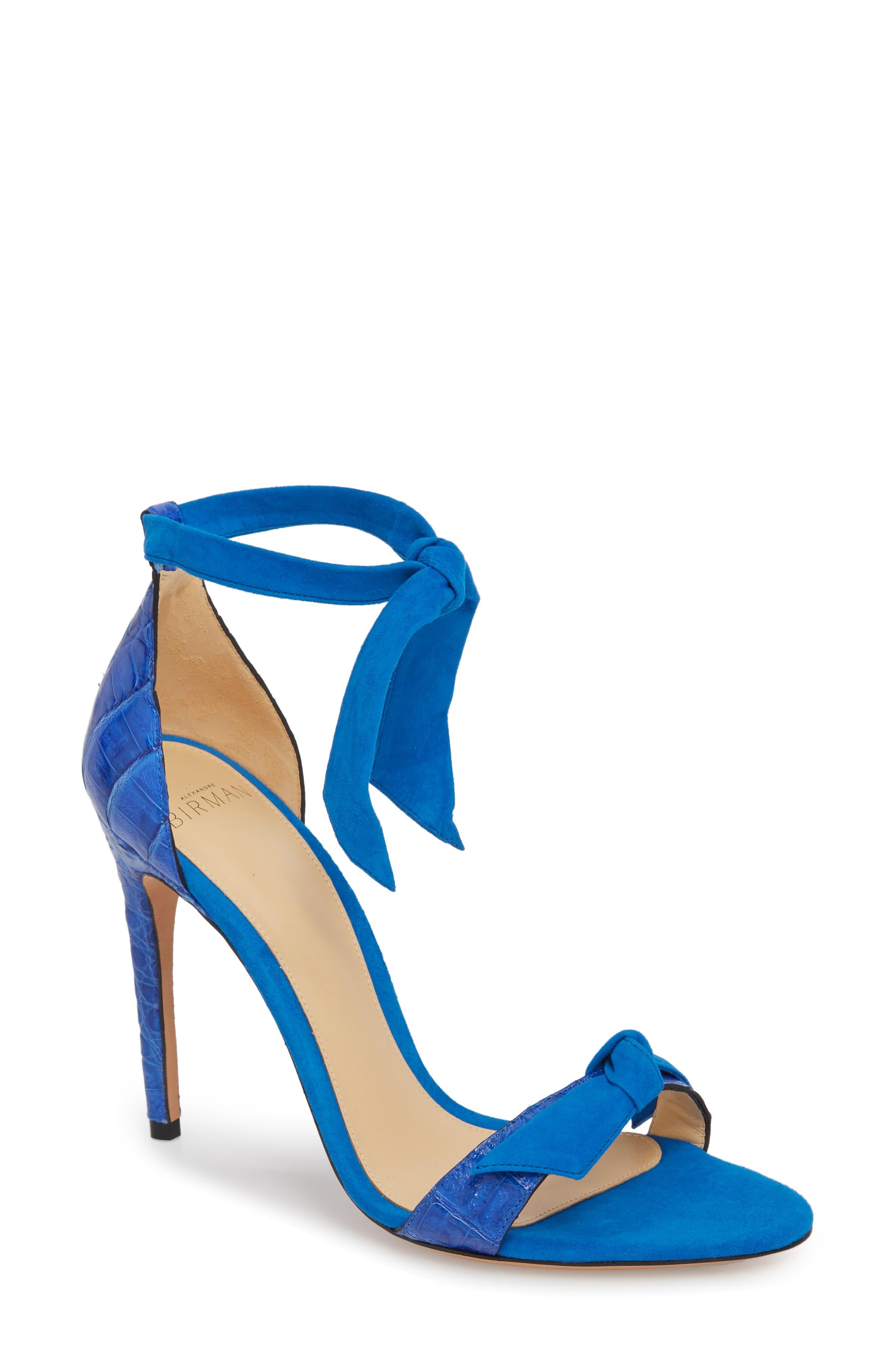 Clarita Knot Sandal,                         Main,                         color, Topazio/ Saphire