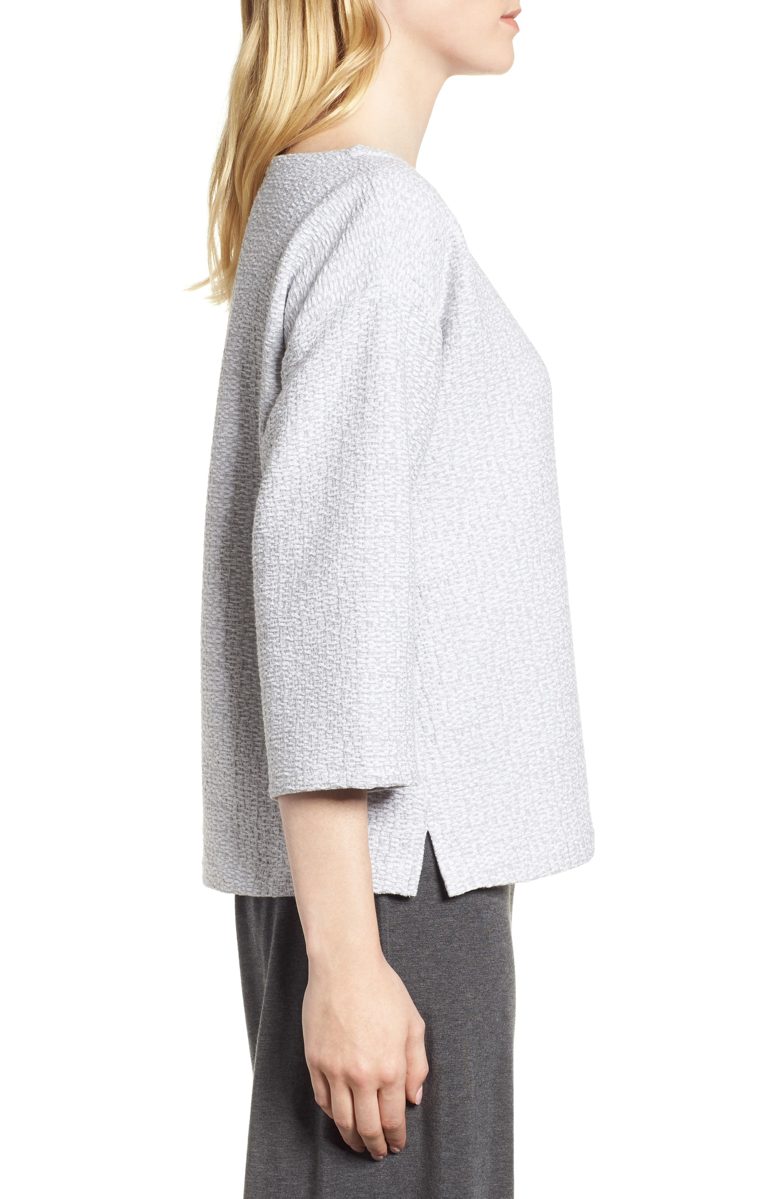 Alternate Image 3  - Eileen Fisher Bateau Neck Box Top