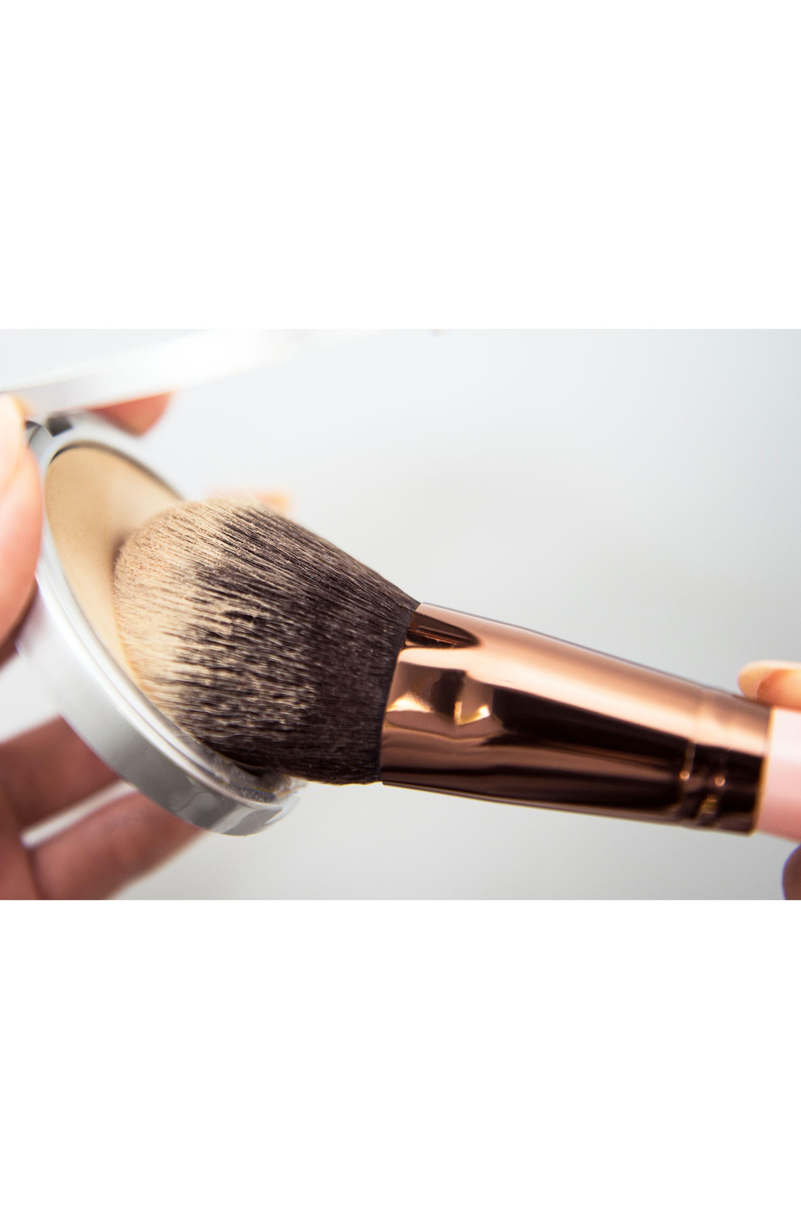 Alternate Image 2  - Luxie 516 Rose Gold Duo Fibre Powder Brush