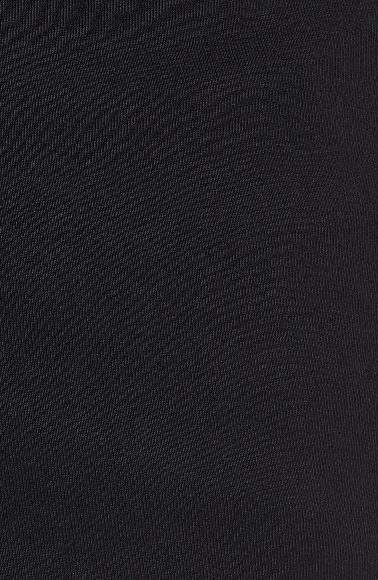 Taped Slim Fit Track Shorts,                             Alternate thumbnail 5, color,                             Black/ Black