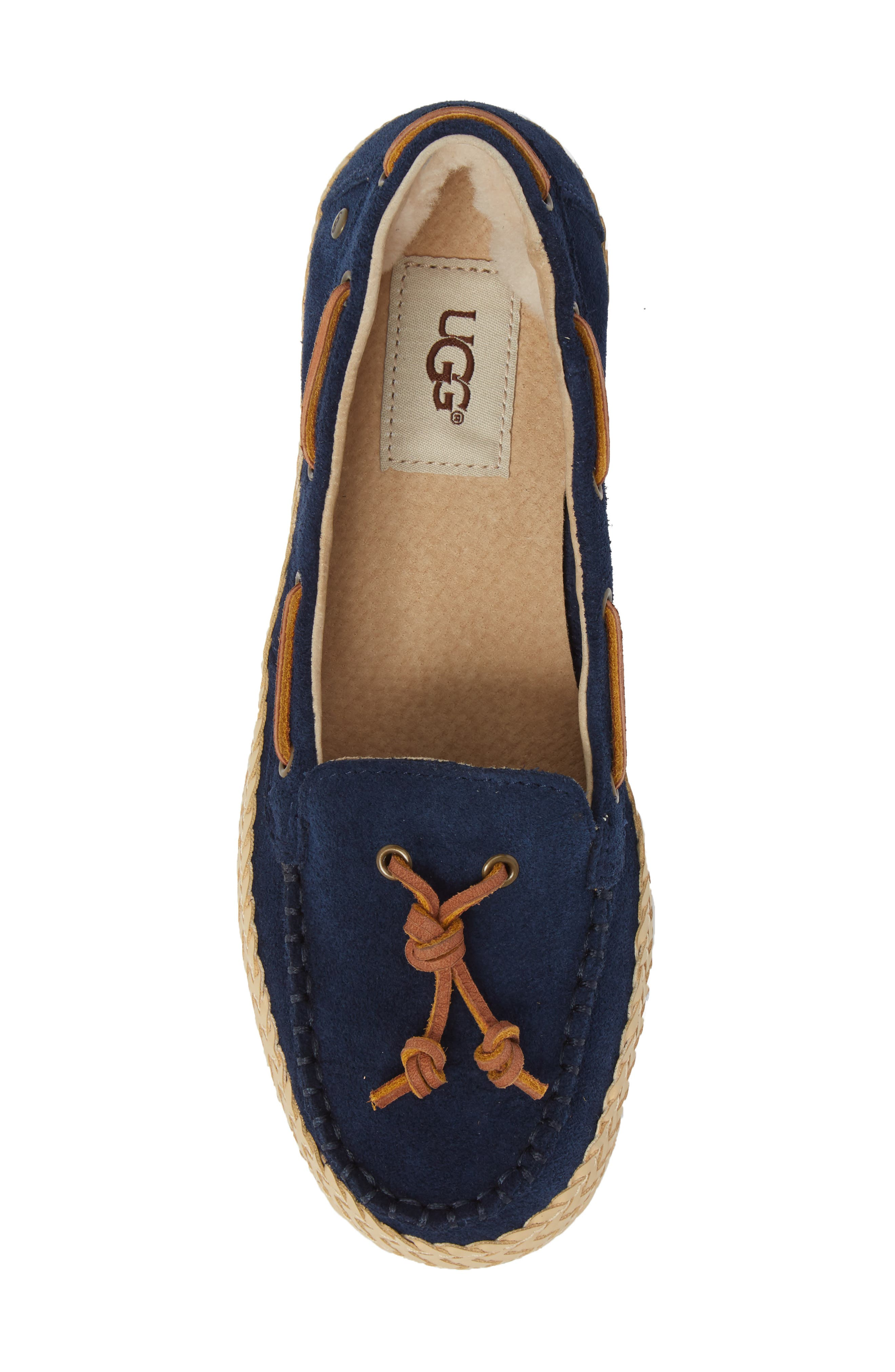 Channtal Loafer,                             Alternate thumbnail 5, color,                             Navy Suede