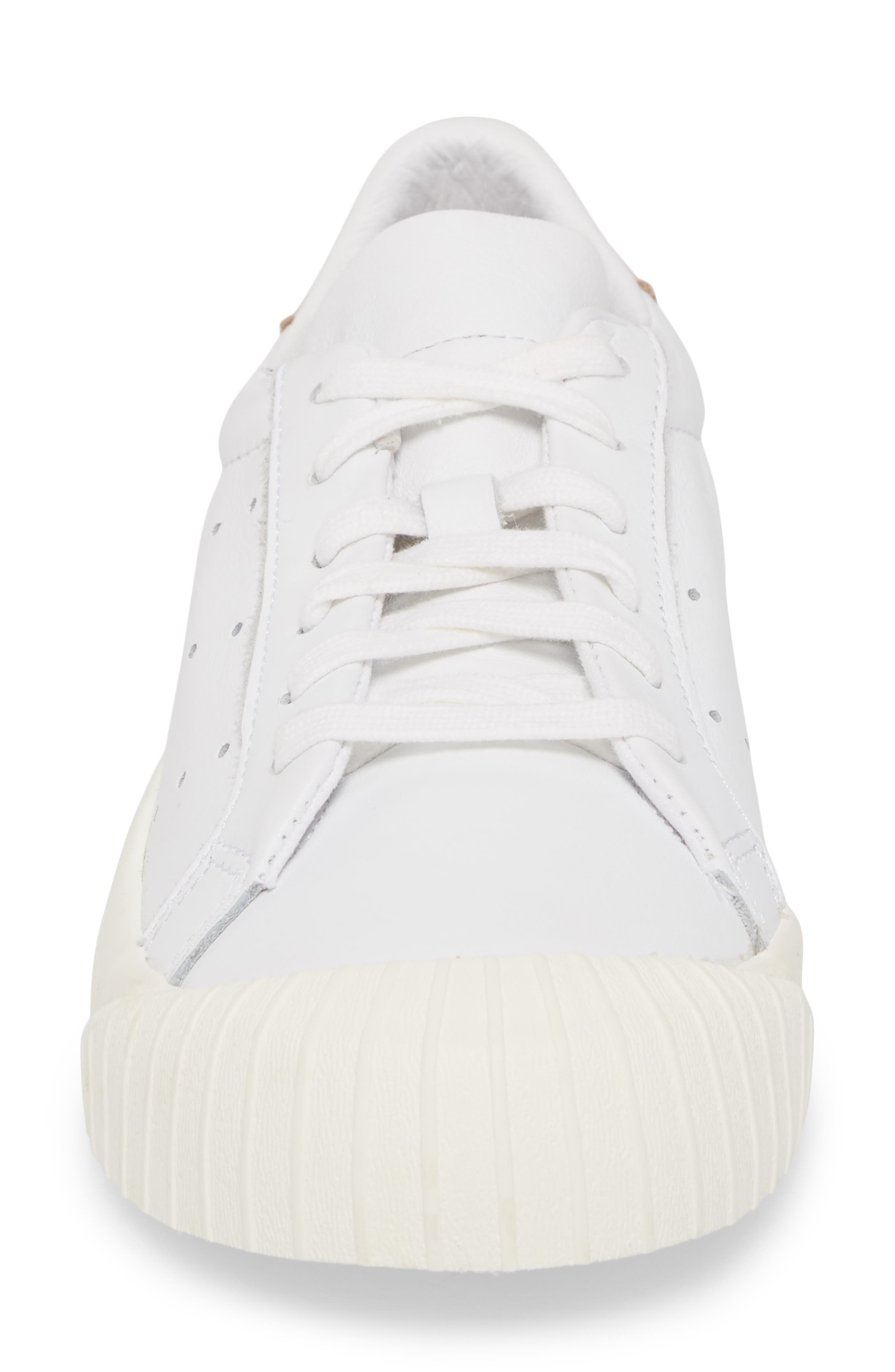 Everyn Perforated Low Top Sneaker,                             Alternate thumbnail 4, color,                             White/ White/ Ash Pearl