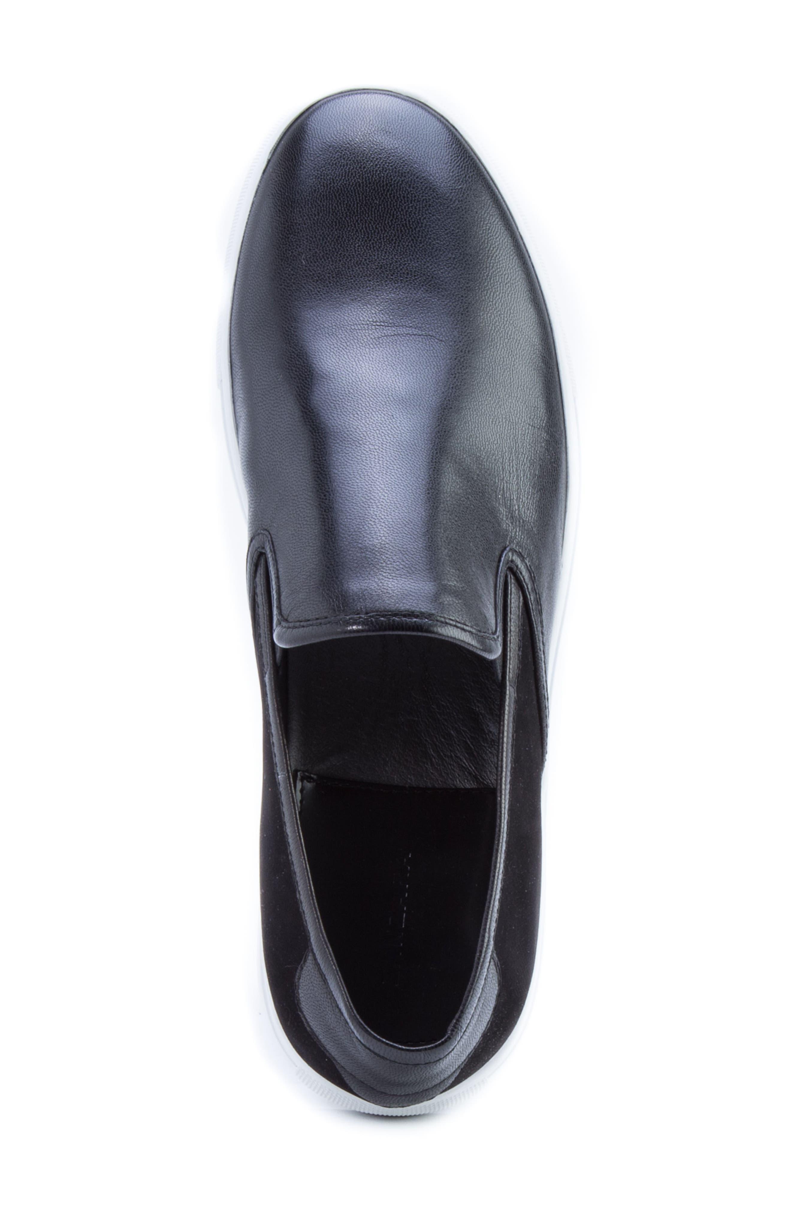 Duchamps Slip-On Sneaker,                             Alternate thumbnail 5, color,                             Black Leather/ Suede