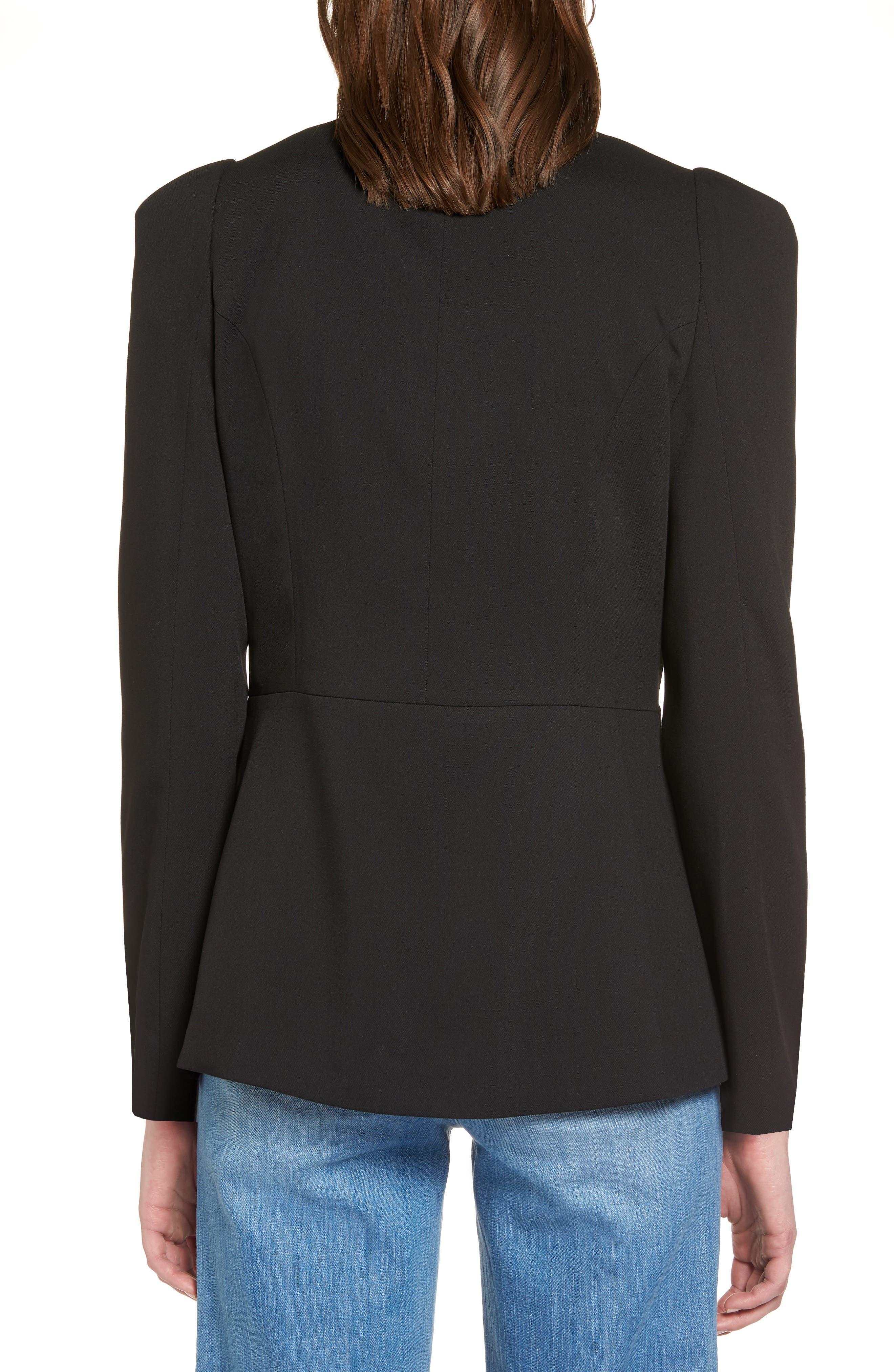 Puff Shoulder Jacket,                             Alternate thumbnail 2, color,                             Black