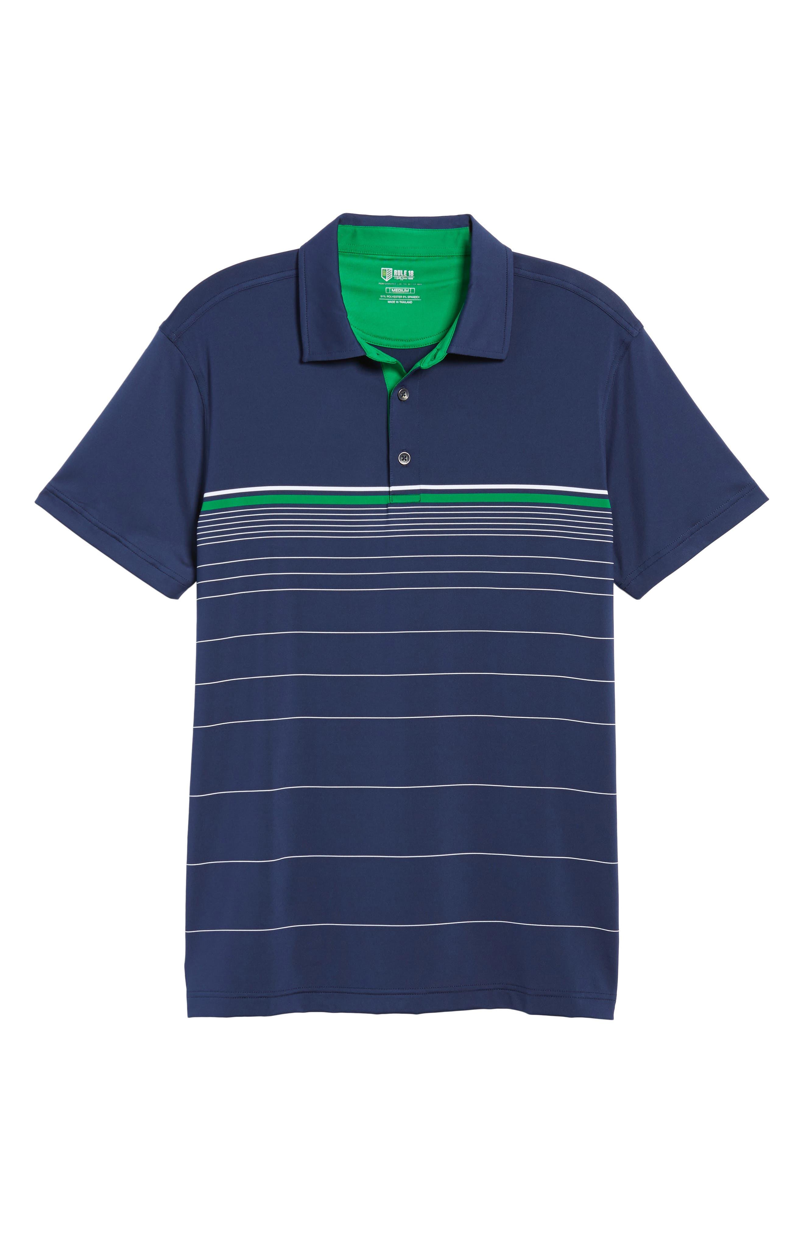 R18 Tech Skill Stripe Polo,                             Alternate thumbnail 5, color,                             Navy