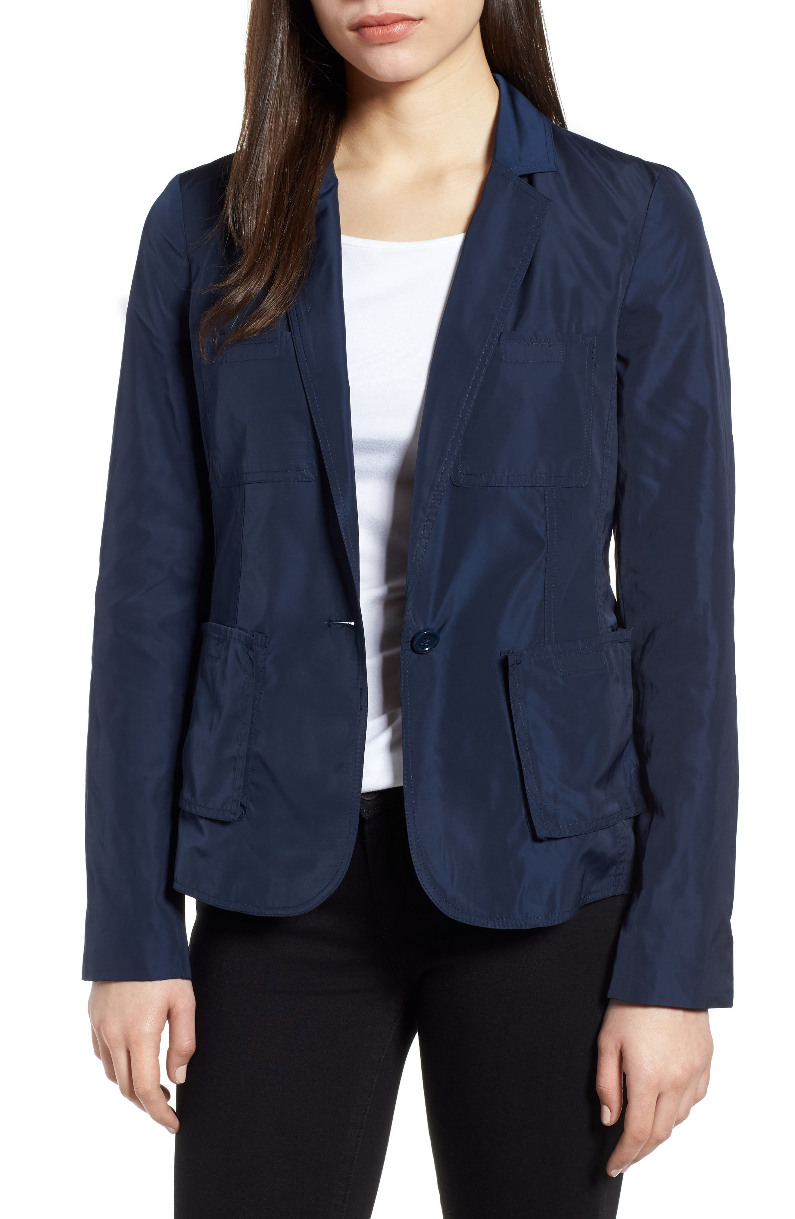 Two-Button Blazer,                             Main thumbnail 1, color,                             Indigo