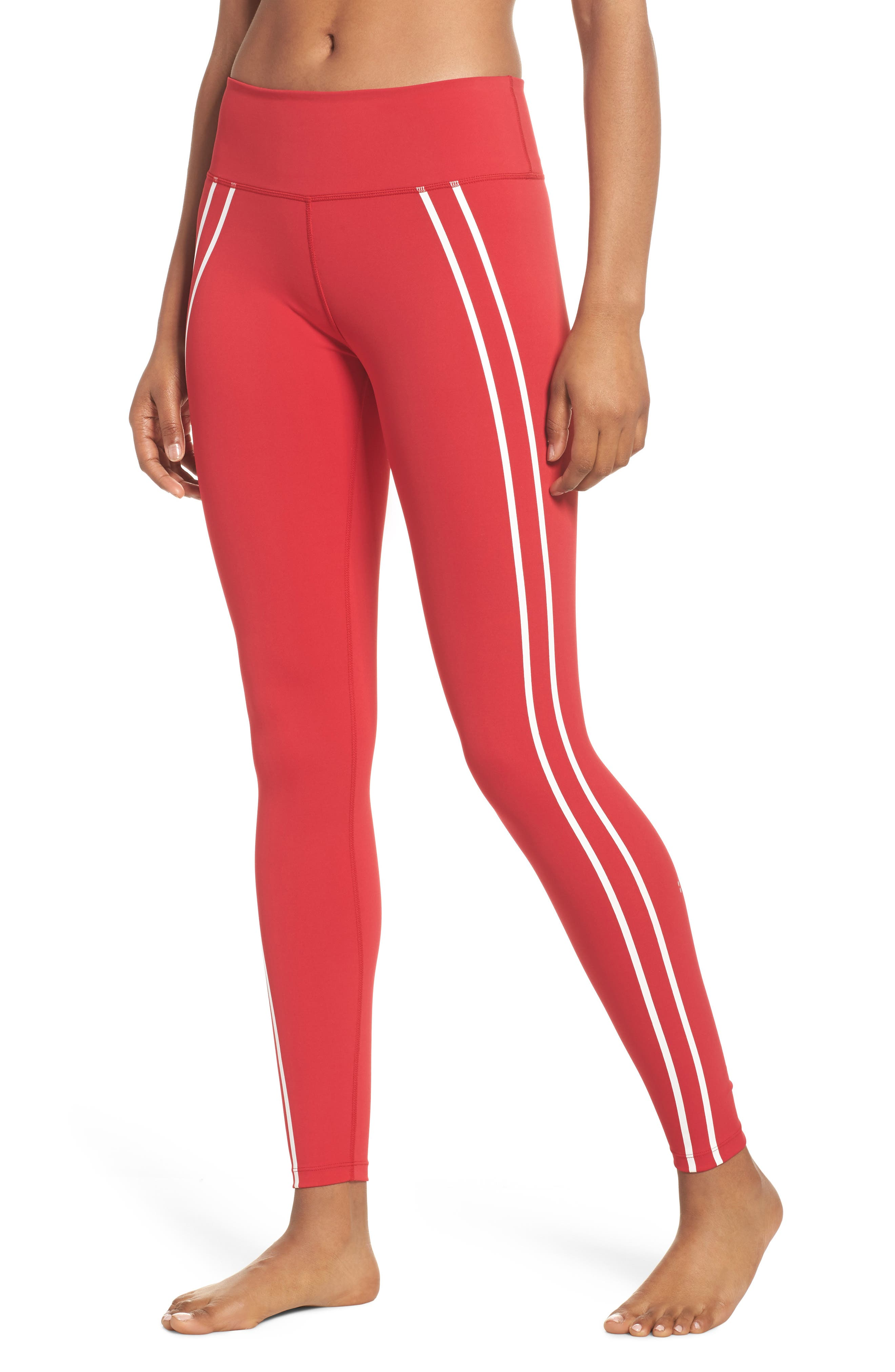 Distance Tights,                         Main,                         color, Havana Red/ Off White