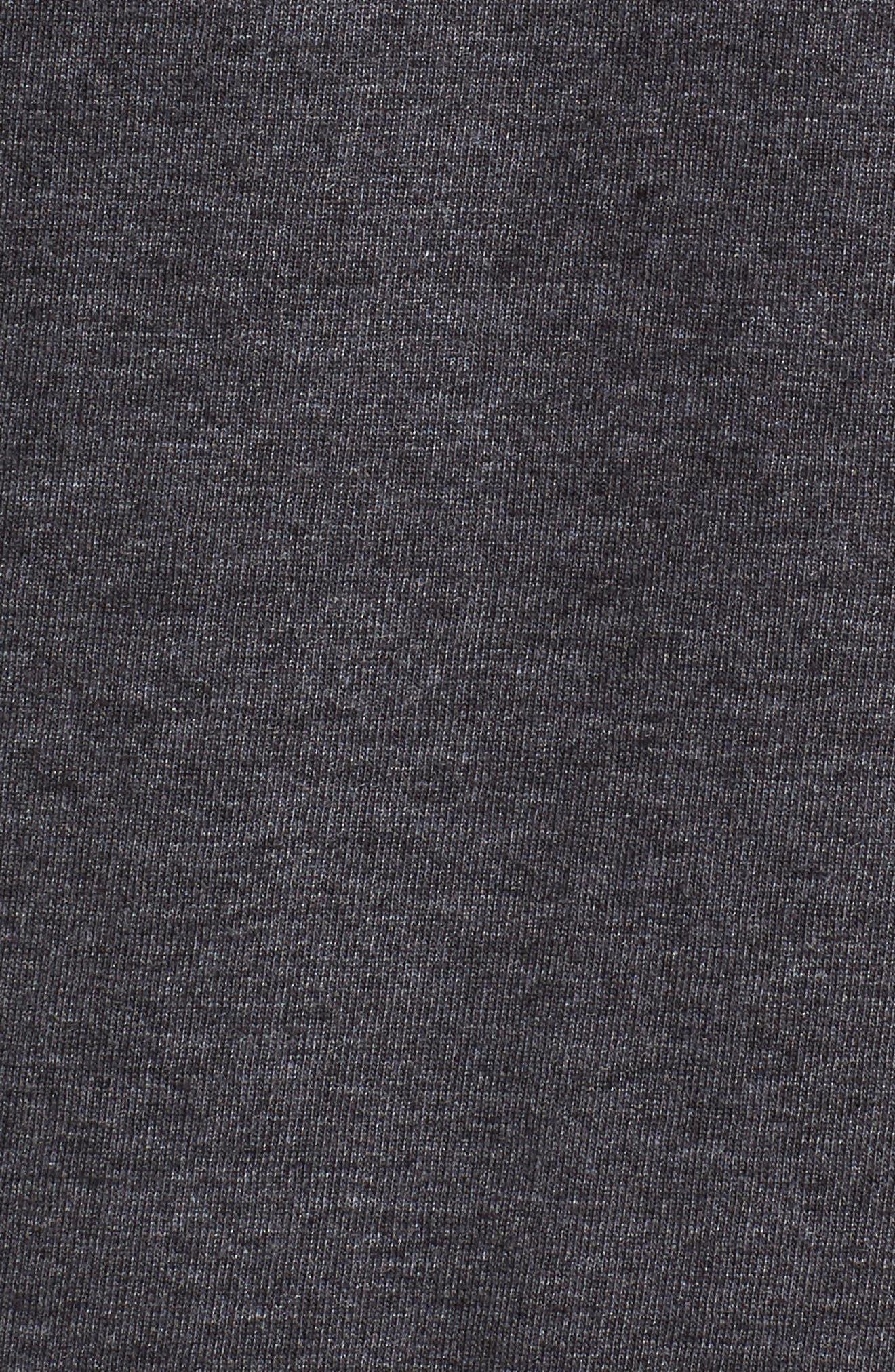 Paradise Script T-Shirt,                             Alternate thumbnail 5, color,                             Black Heather