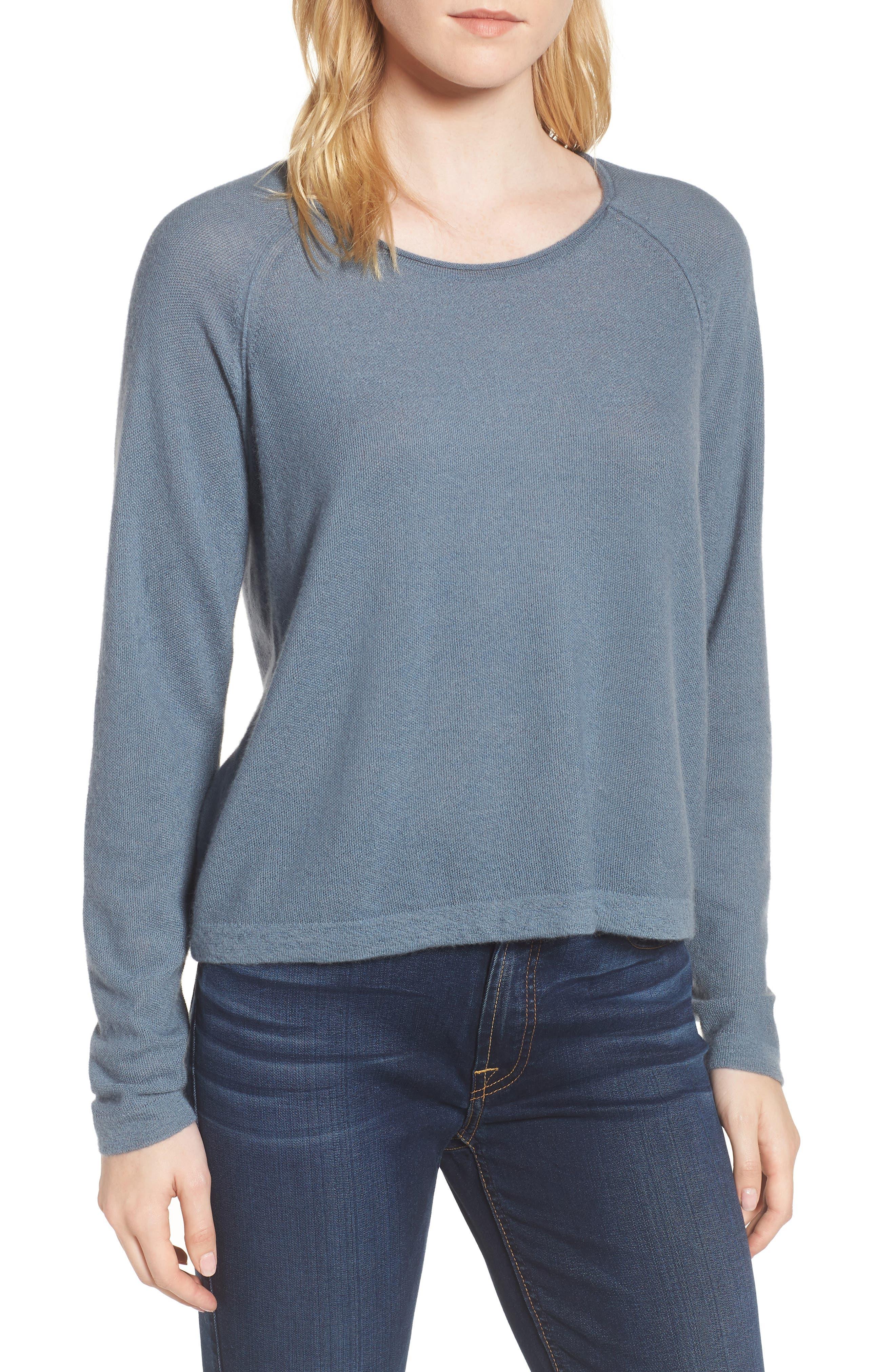Cashmere Sweater,                         Main,                         color, Heather Cruise