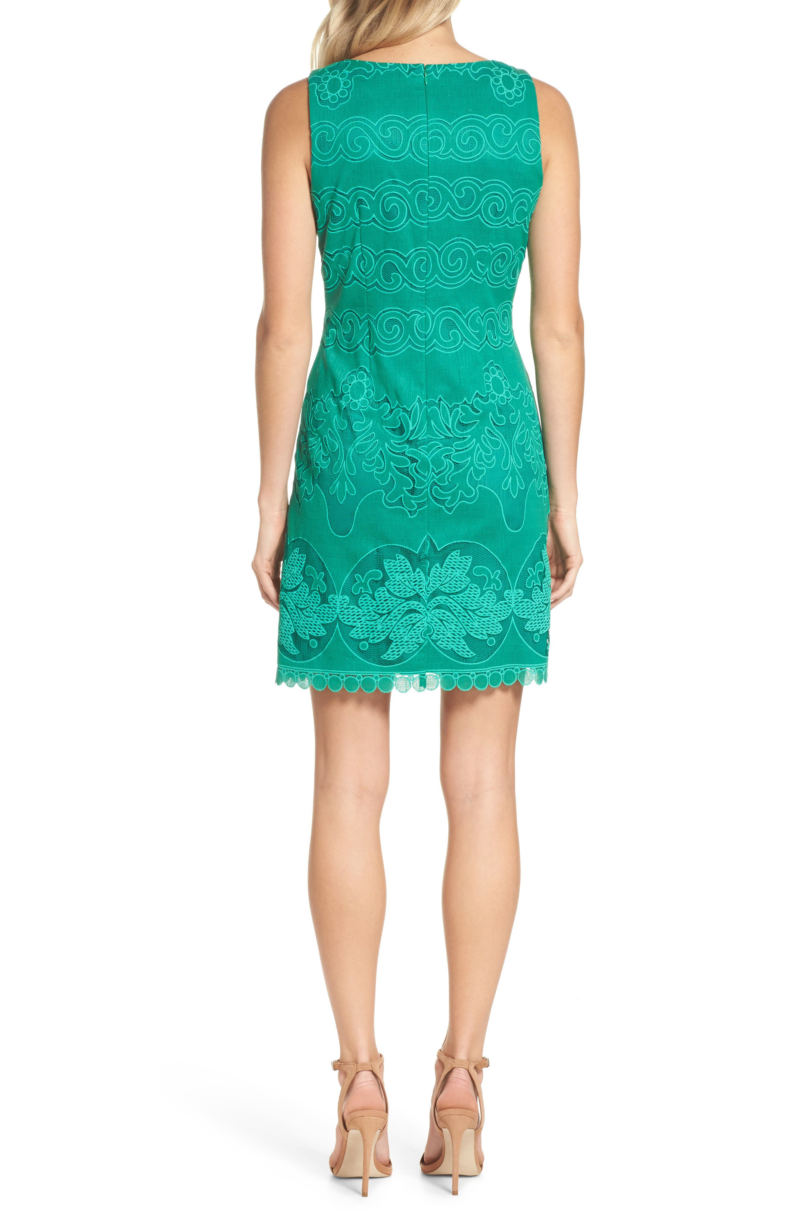 A-Line Dress,                             Alternate thumbnail 2, color,                             Green