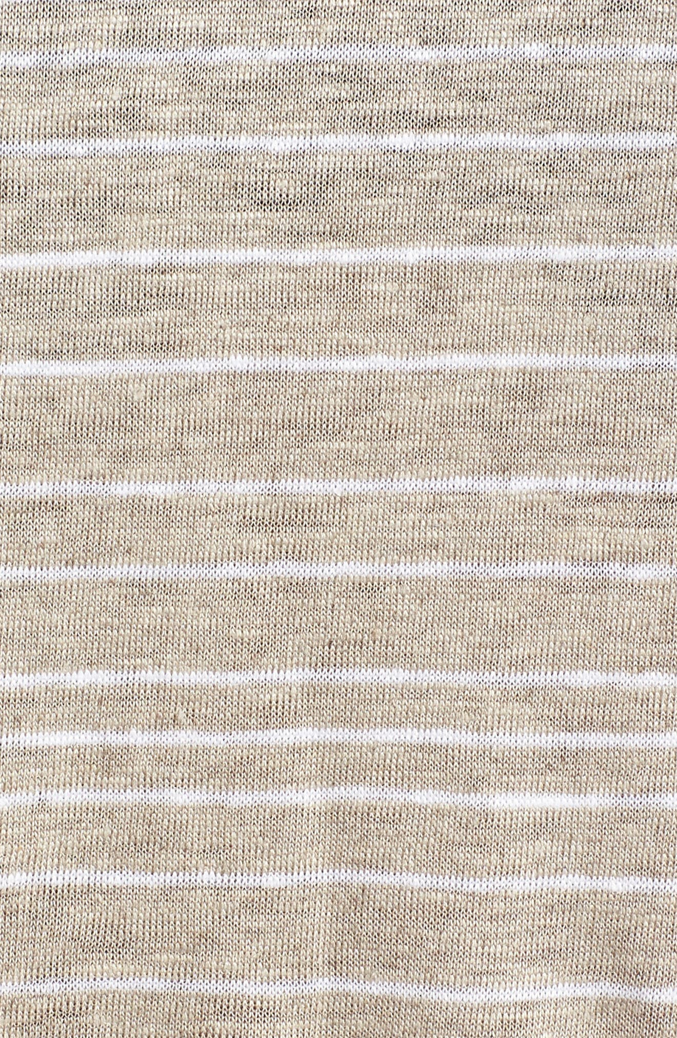Stripe Organic Linen Top,                             Alternate thumbnail 6, color,                             Natural