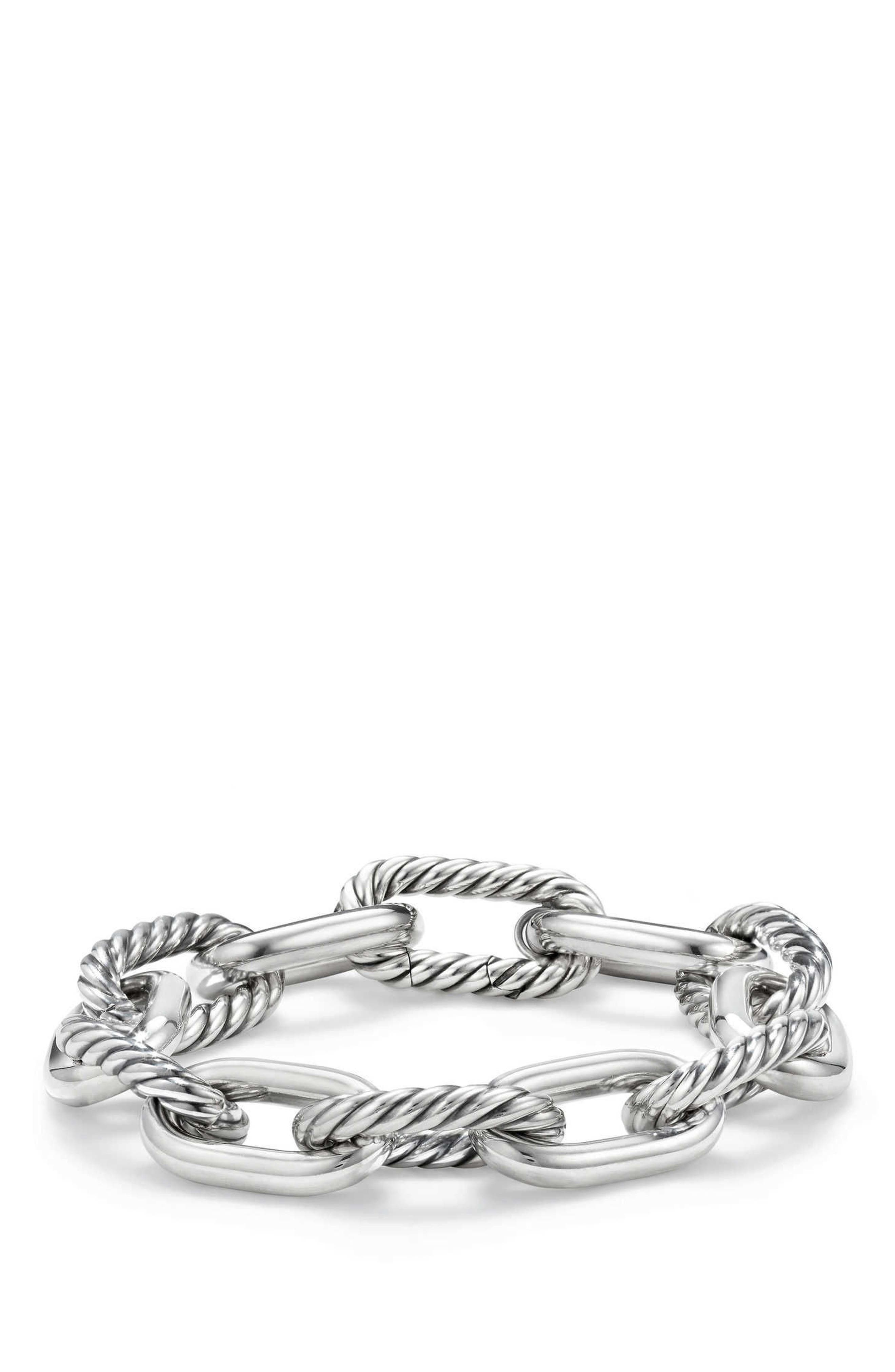 DY Madison Chain Large Bracelet,                             Main thumbnail 1, color,                             Silver