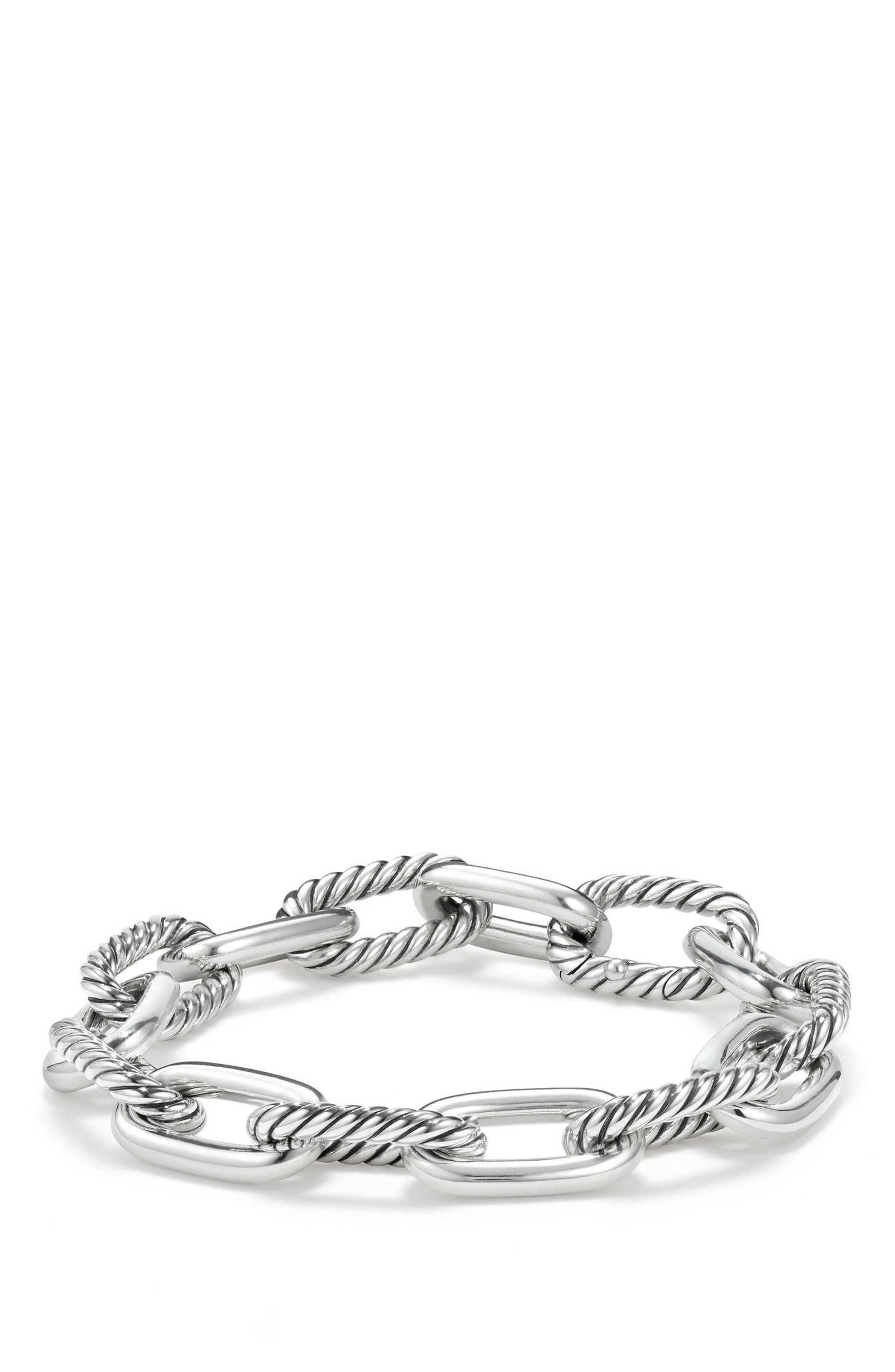 DY Madison Chain Medium Bracelet,                             Main thumbnail 1, color,                             Silver