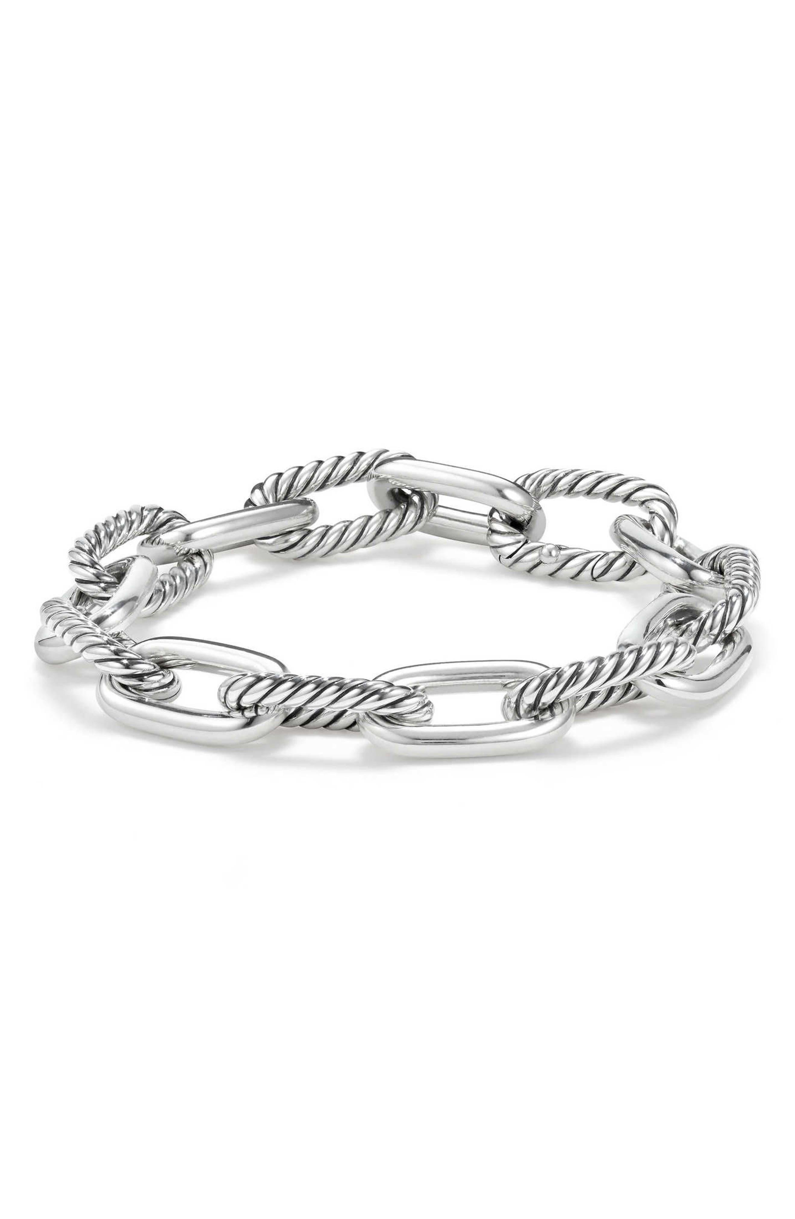 DY Madison Chain Medium Bracelet,                         Main,                         color, Silver
