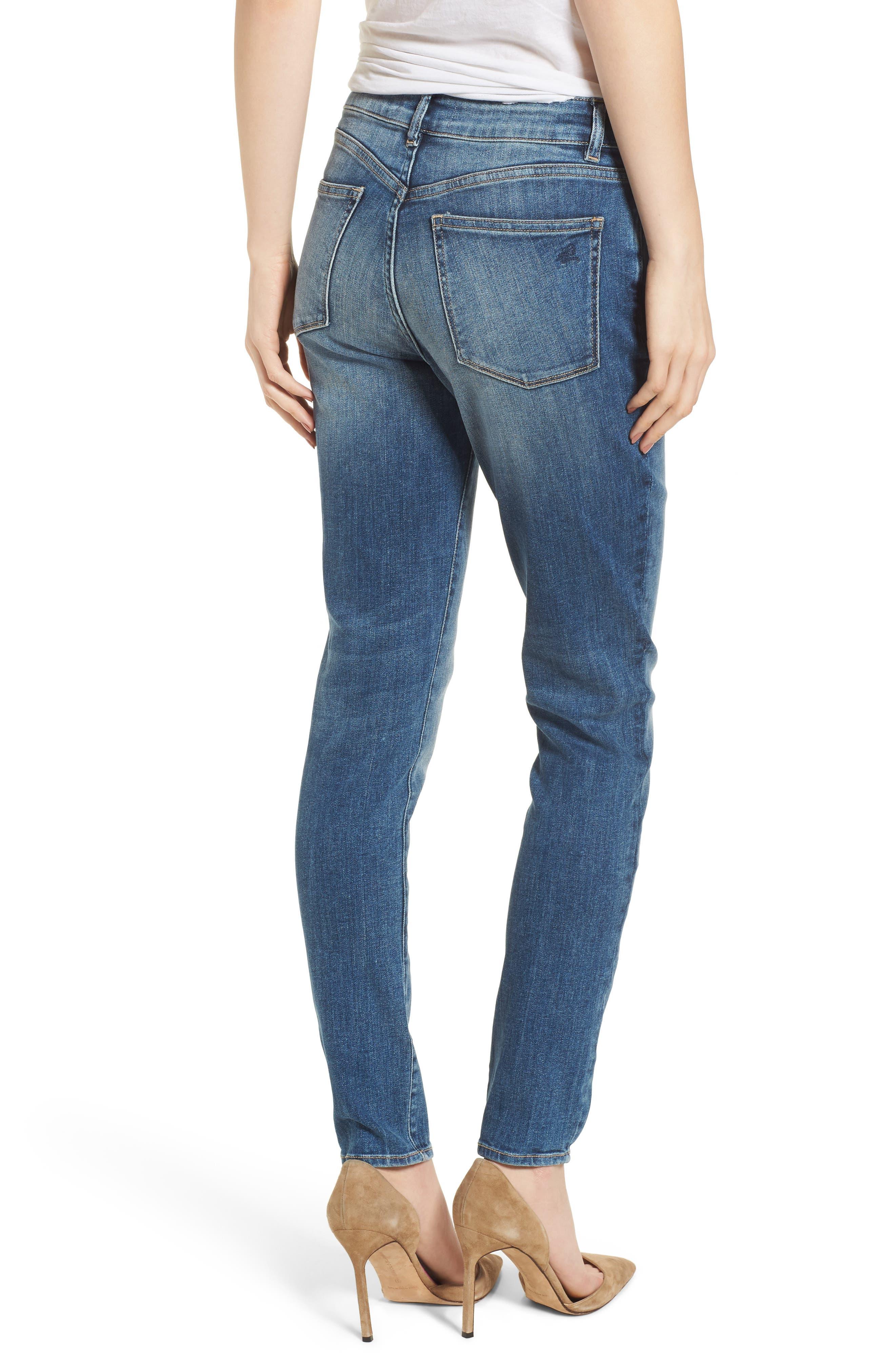 Farrow Instaslim High Waist Skinny Jeans,                             Alternate thumbnail 2, color,                             Wells
