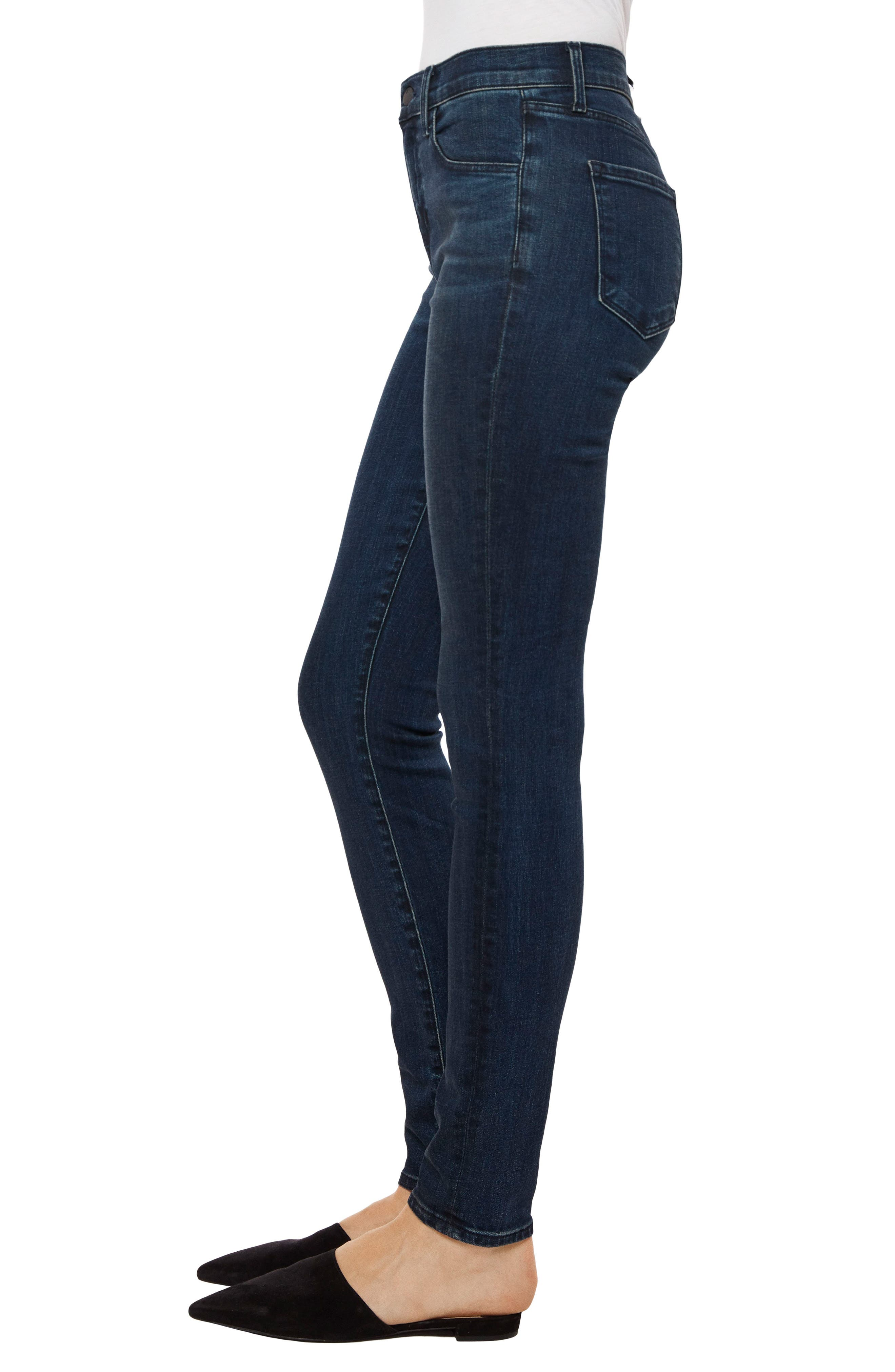 Maria High Waist Skinny Jeans,                             Alternate thumbnail 3, color,                             Unbound