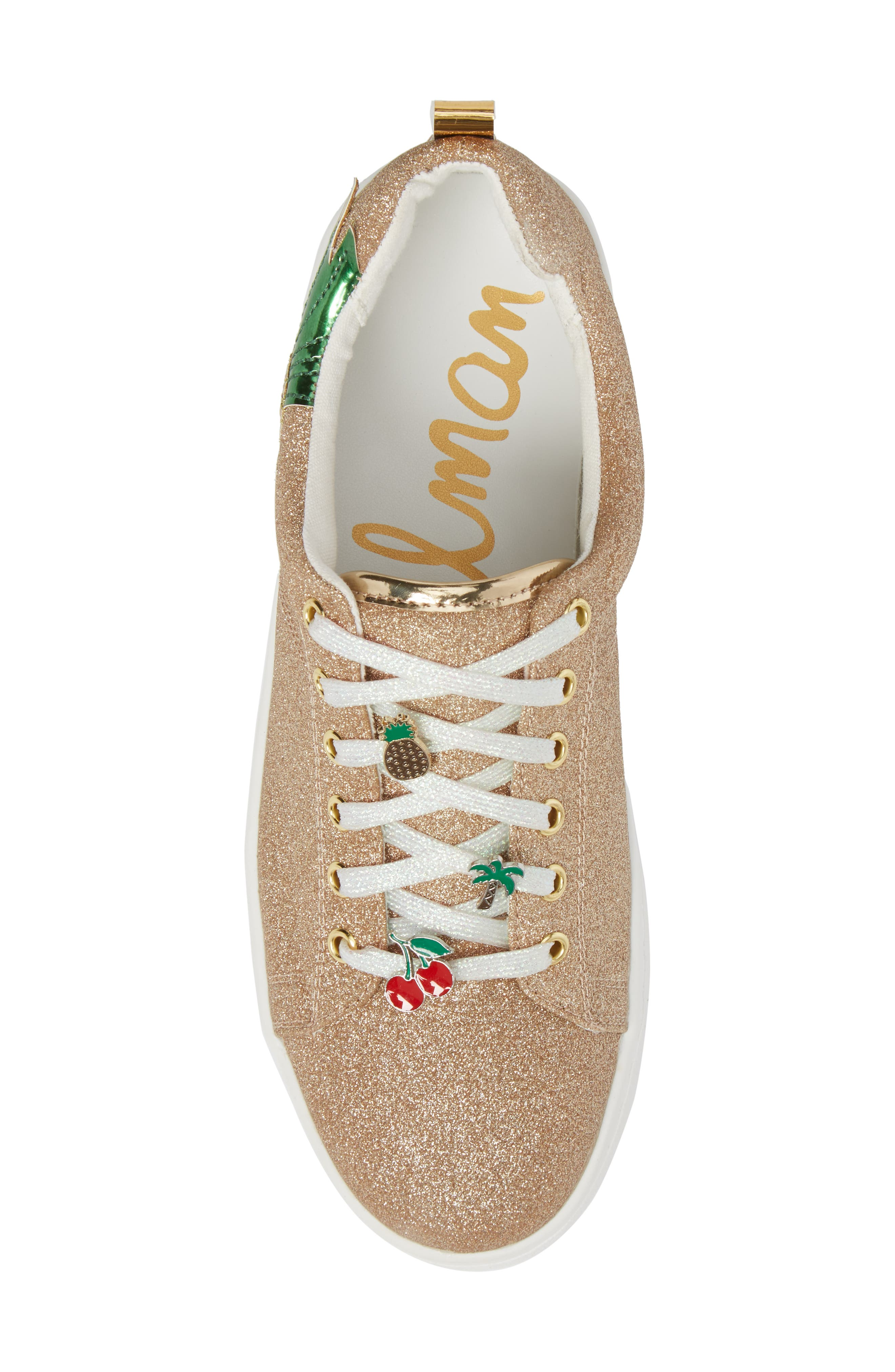 Blane Myth Glitter Sneaker,                             Alternate thumbnail 5, color,                             Golden Pineapple Faux Leather