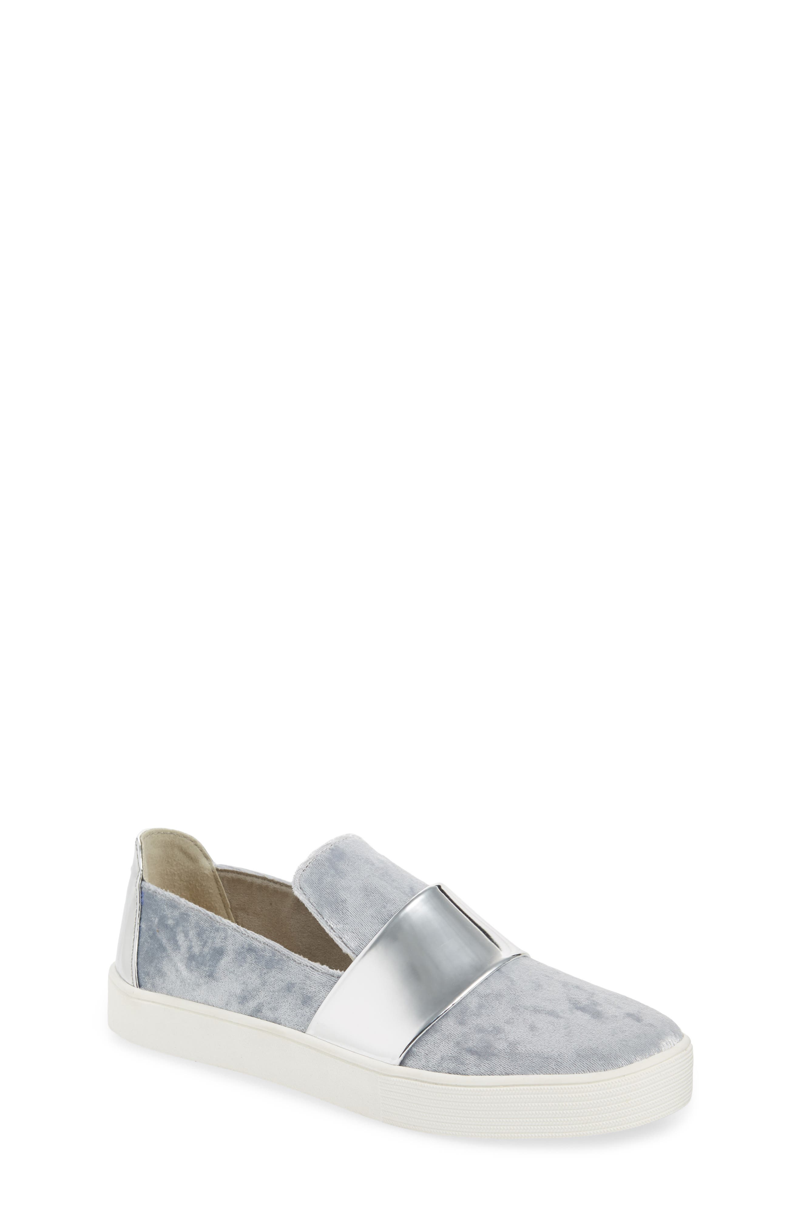Vance Slip-On Sneaker,                             Main thumbnail 1, color,                             Silver