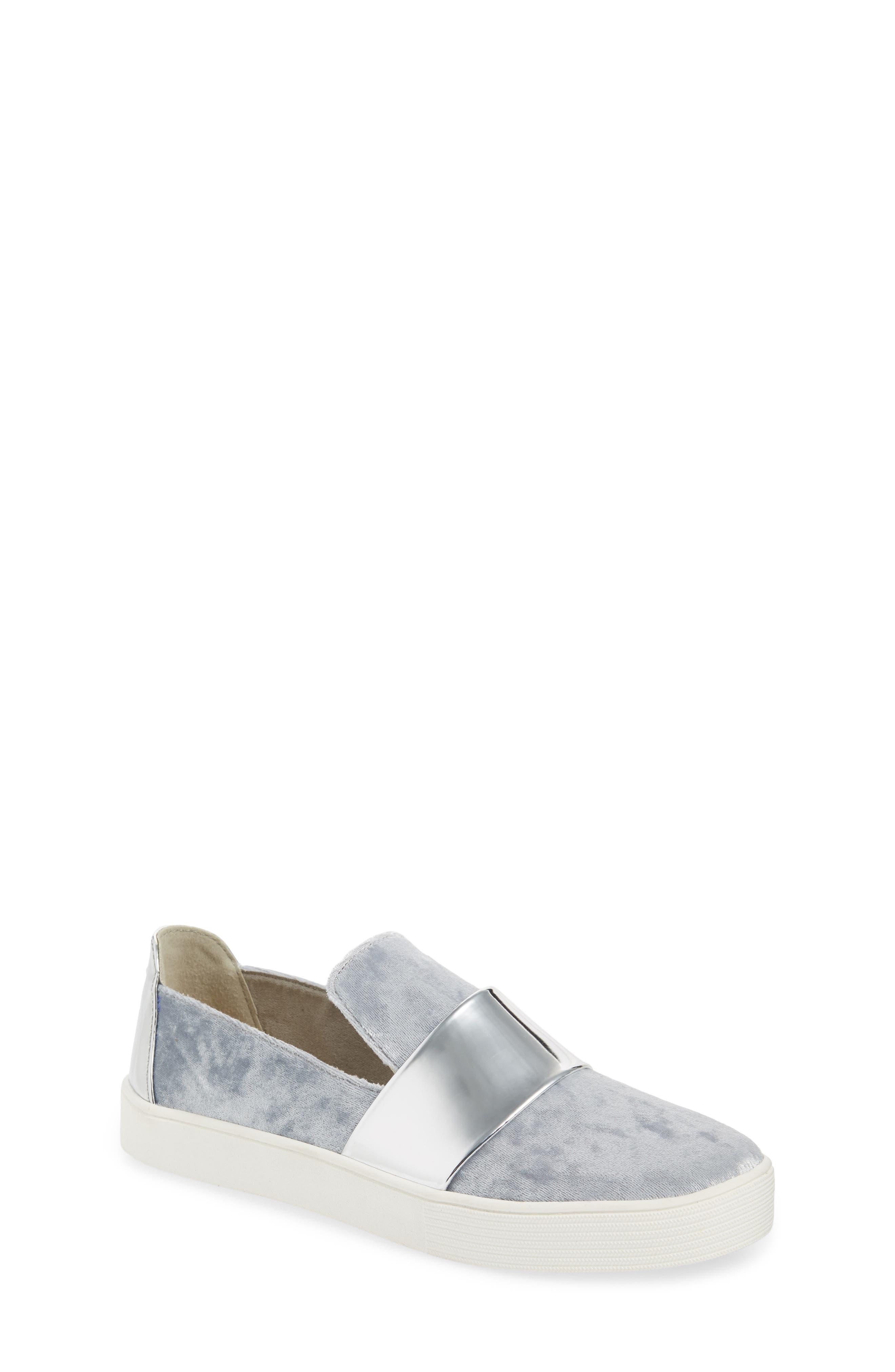 Vance Slip-On Sneaker,                         Main,                         color, Silver