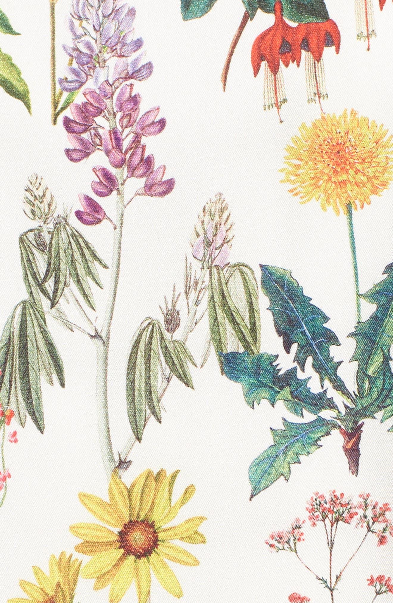 Botanical Off the Shoulder Shift Dress,                             Alternate thumbnail 5, color,                             Botanical Print/ Chalk