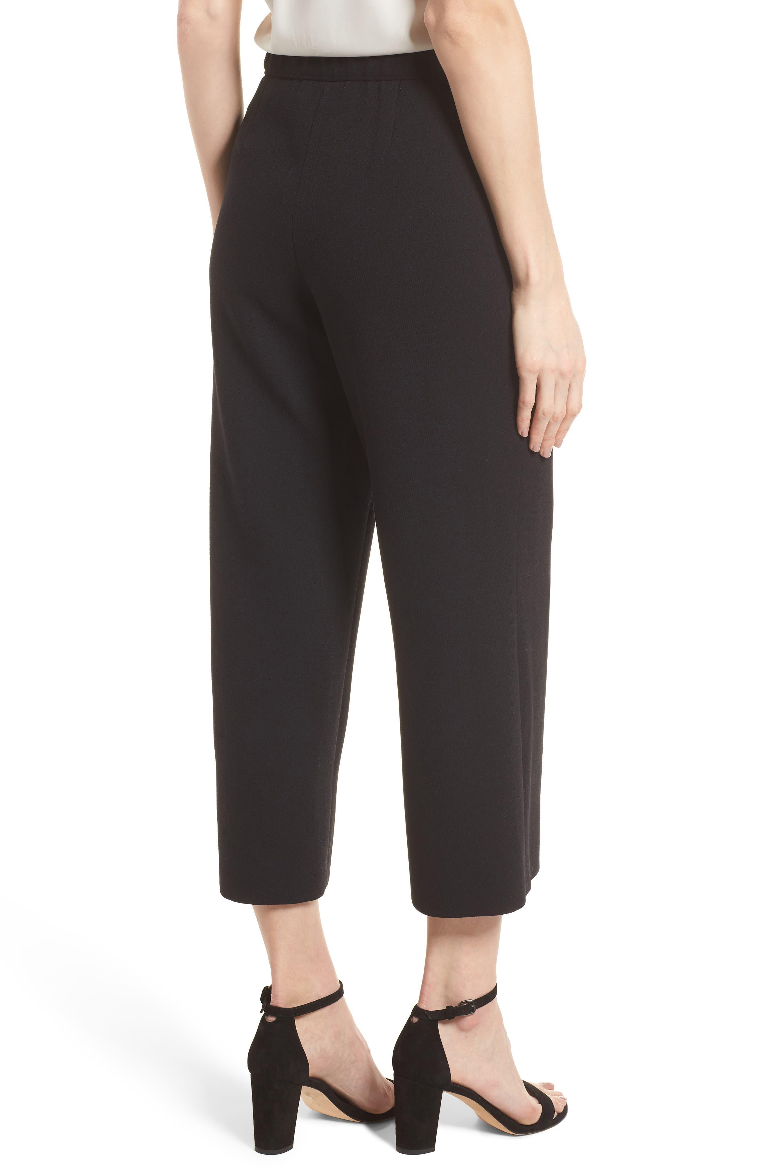 Crop Pants,                             Alternate thumbnail 2, color,                             Black