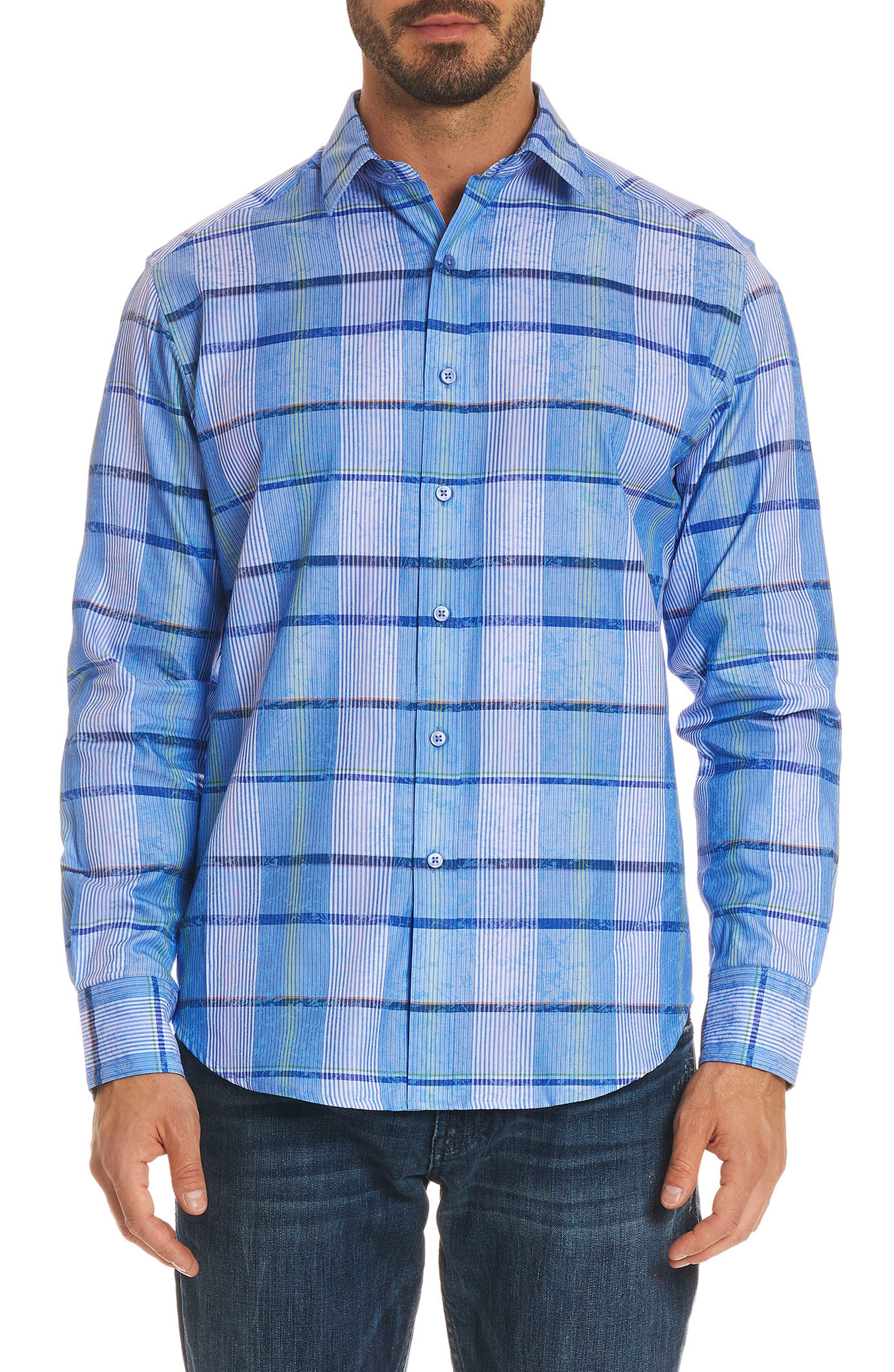 Ferro Classic Fit Sport Shirt,                         Main,                         color, Blue